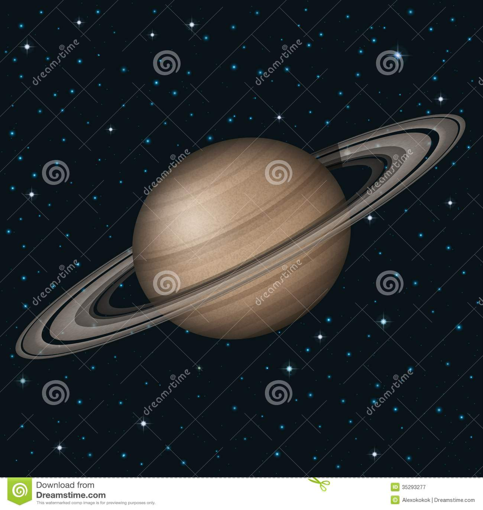 在空间的行星土星