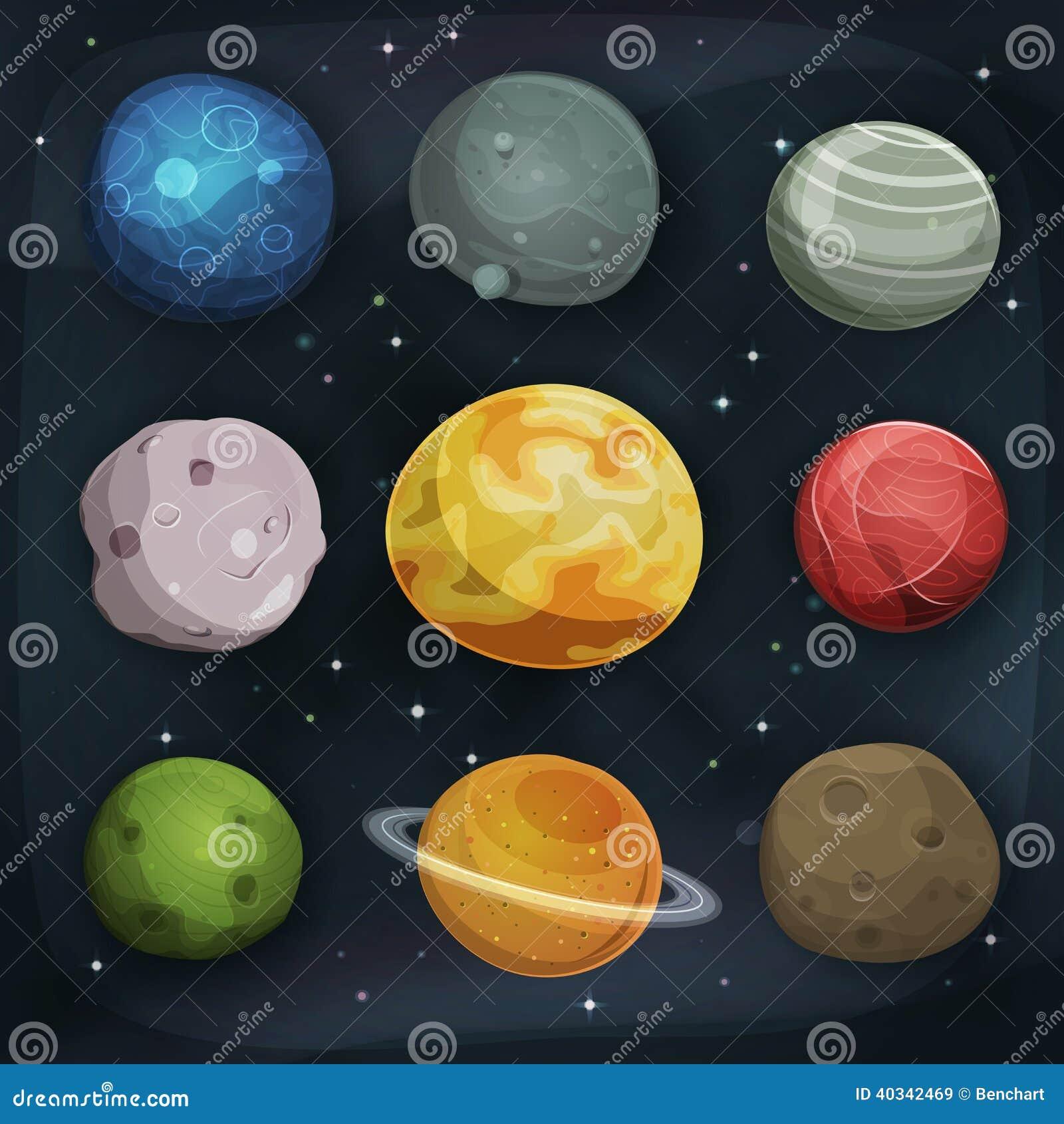 在空间背景设置的可笑的行星