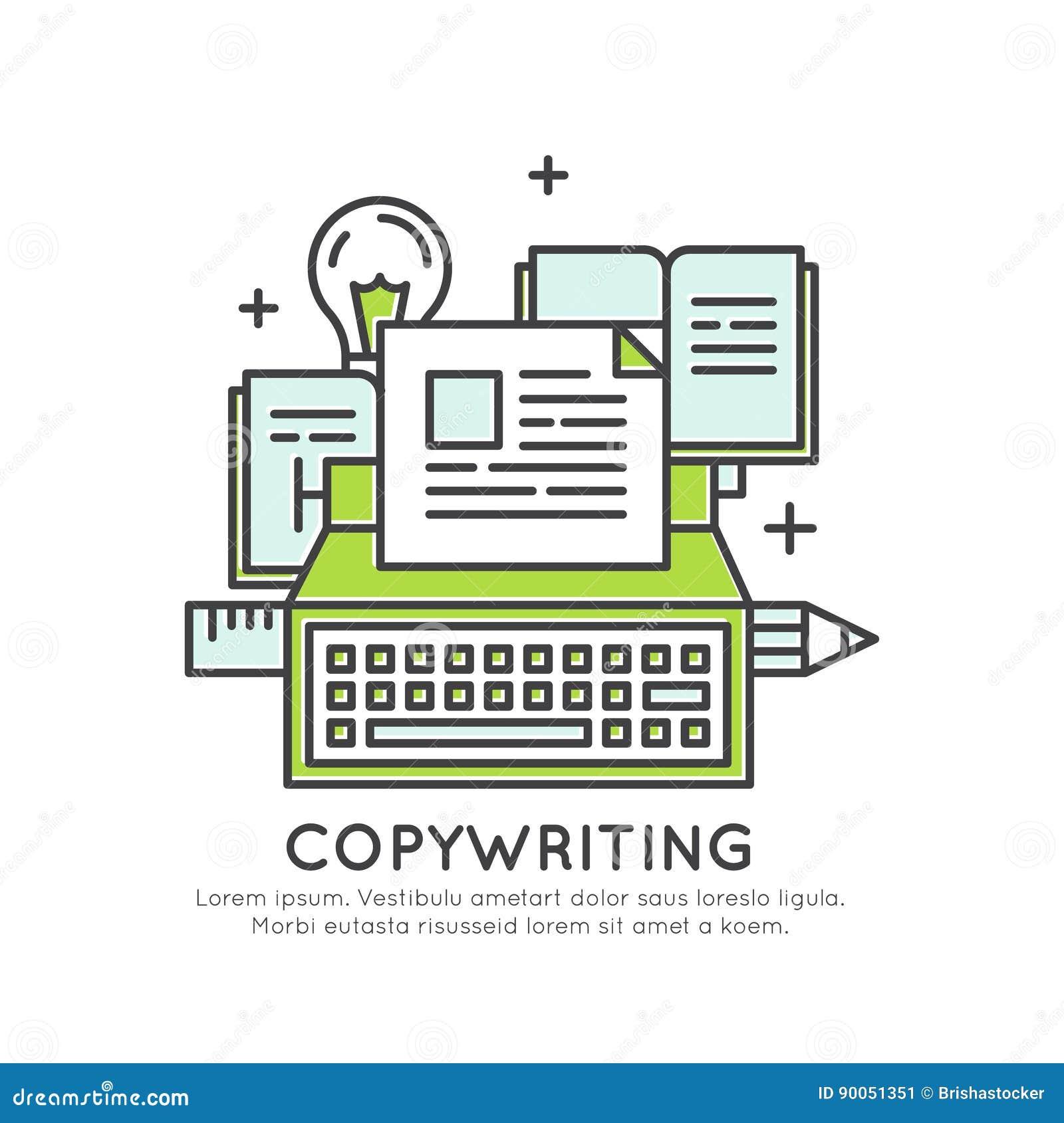在箱子概念、想象力、聪明的解答、创造性和突发的灵感, Copywriting内容创作之外认为