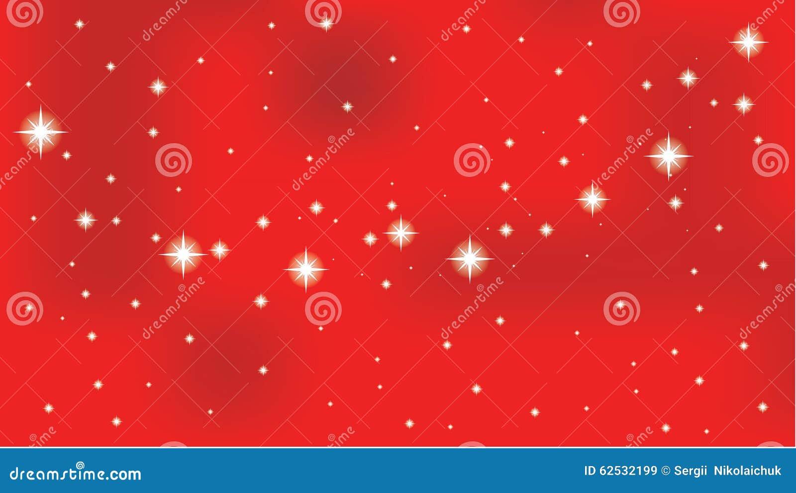 在红色传染媒介背景的星