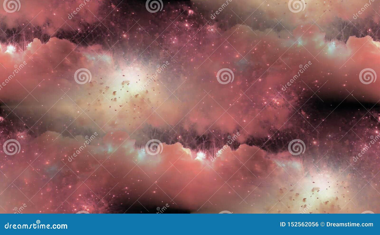 在红色星系星云的发光的星