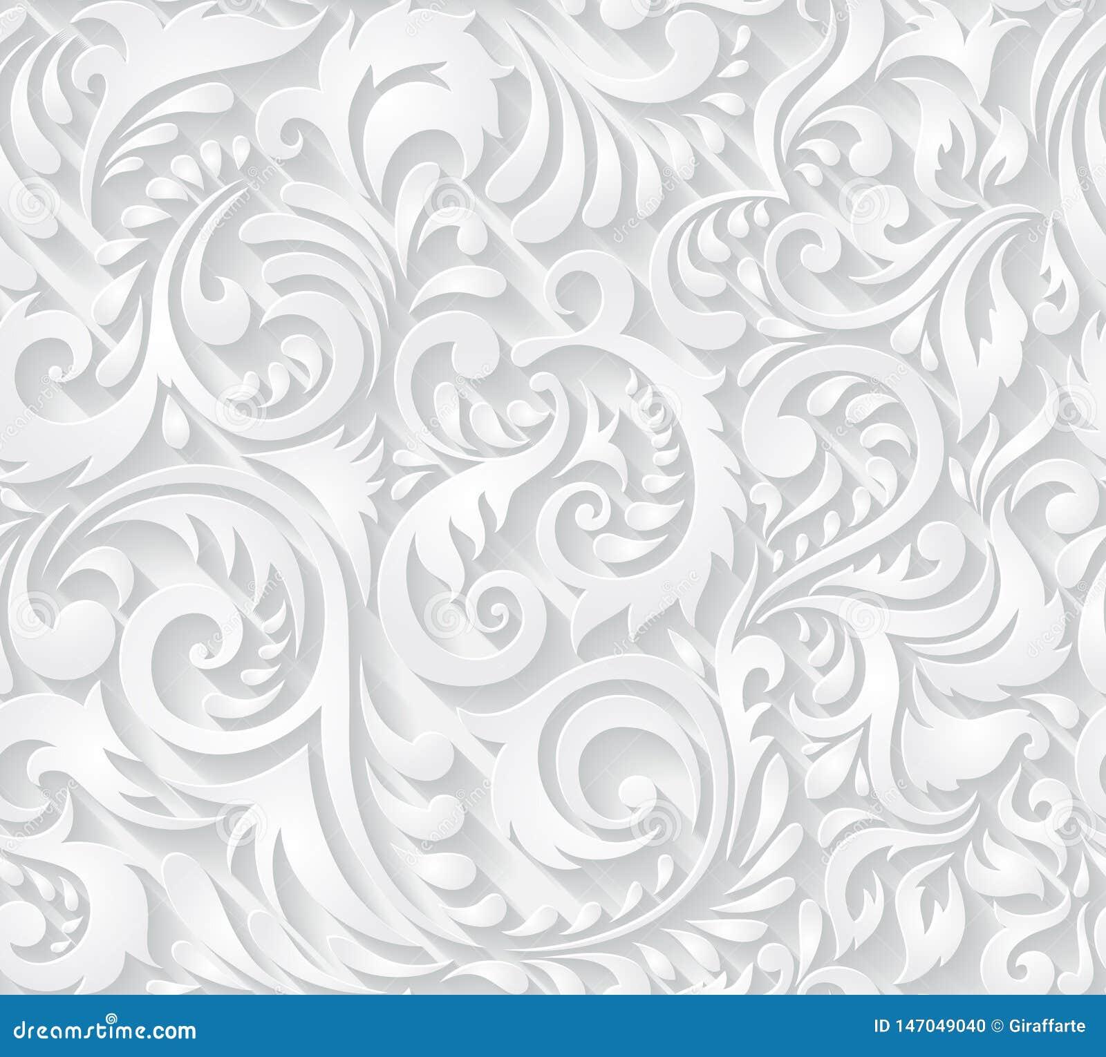 在纸被削减的样式的传染媒介无缝的样式背景纺织品、纸或者表面纹理的