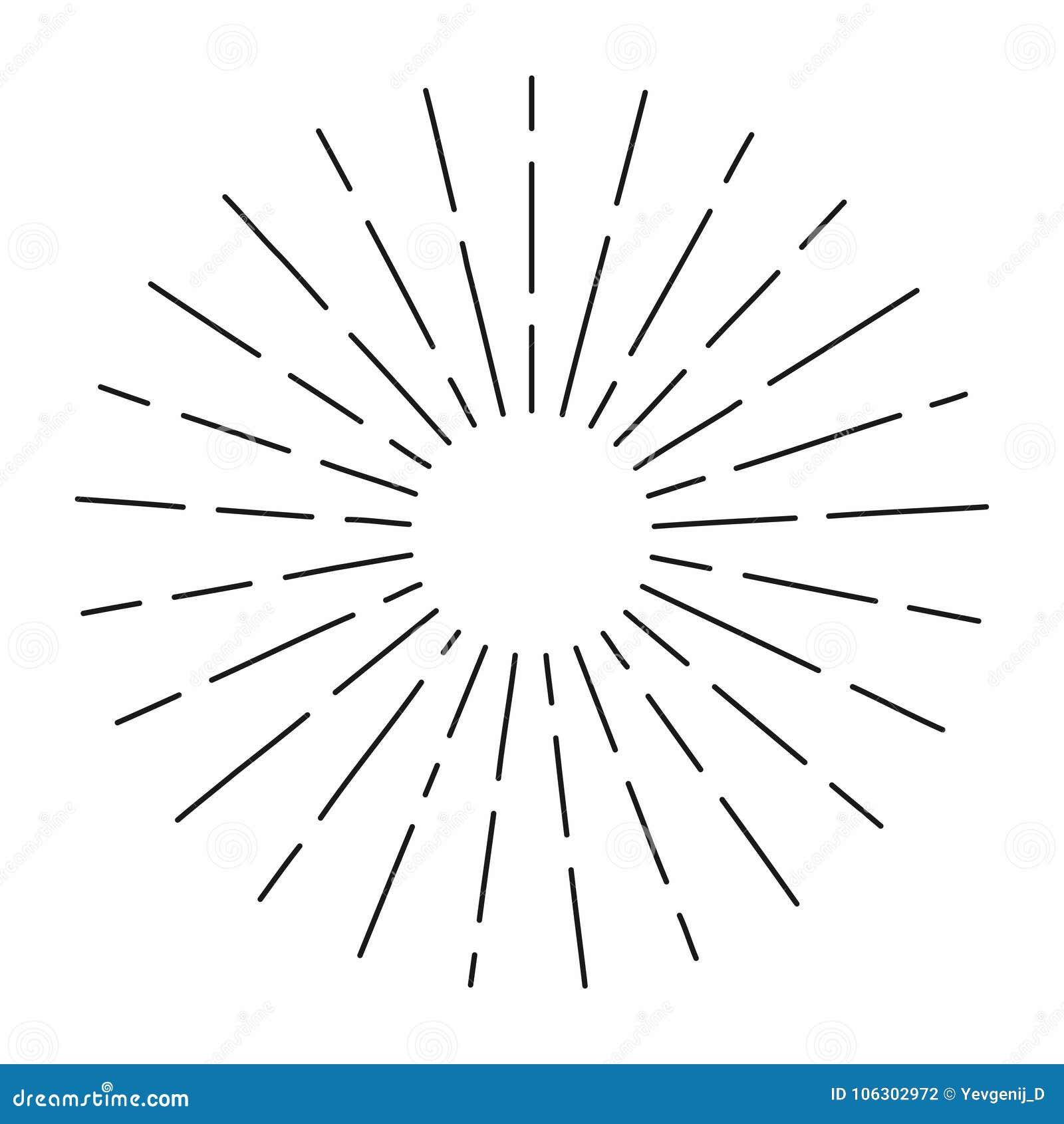 在线形的葡萄酒旭日形首饰,线性辐形破裂了行家文化的减速火箭的太阳