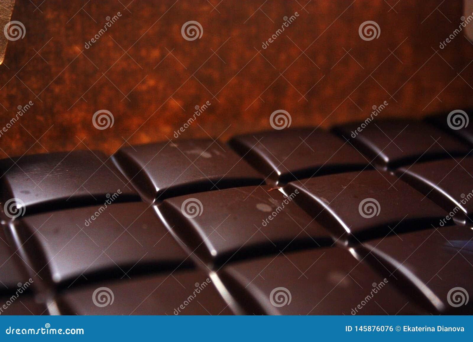 在组装backround的黑暗的巧克力块