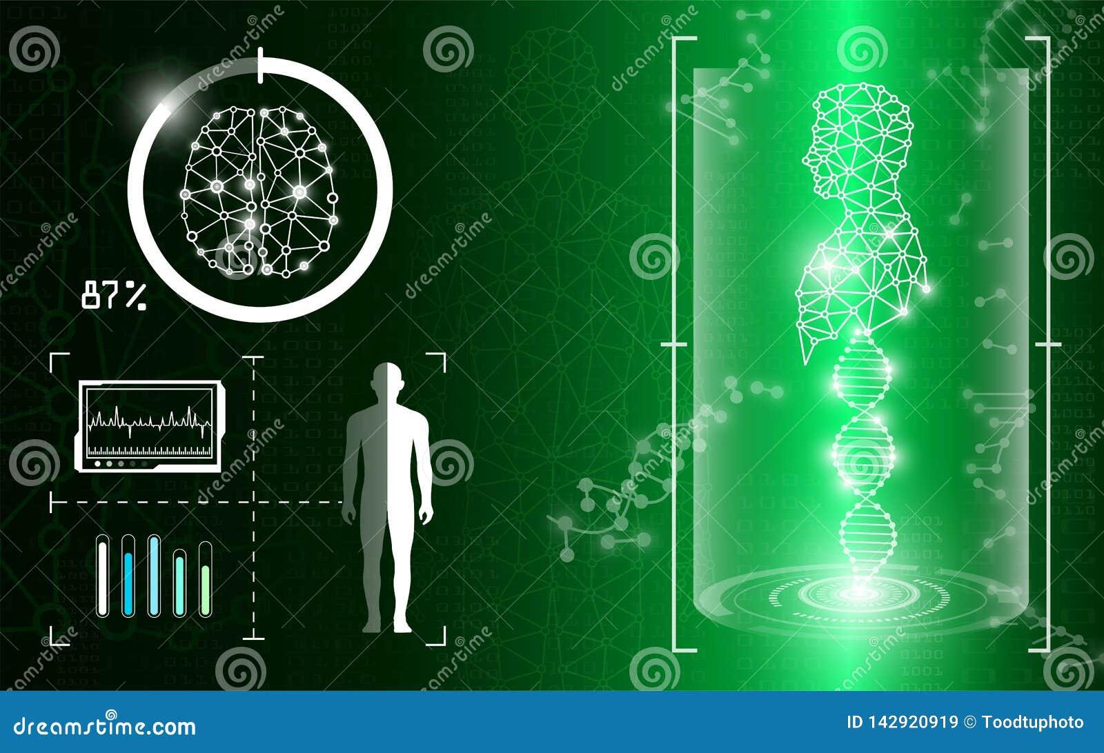 在绿灯的抽象背景技术概念