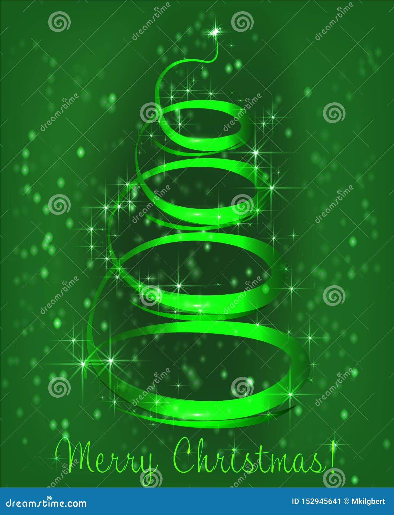 在绿色背景的圣诞树