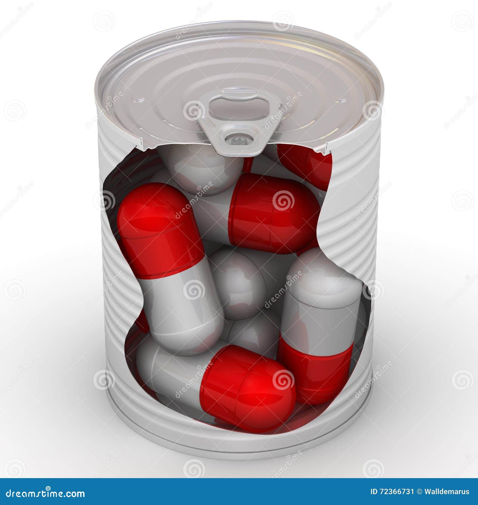 在罐子的药片