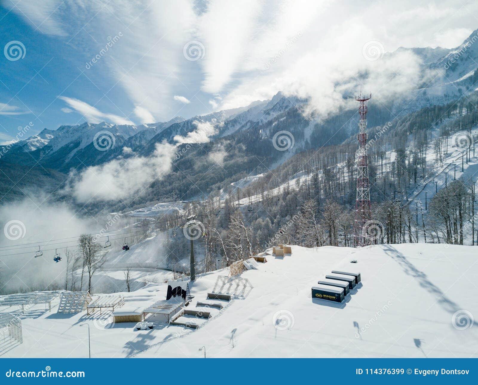 在罗莎Khutor山的工业zona
