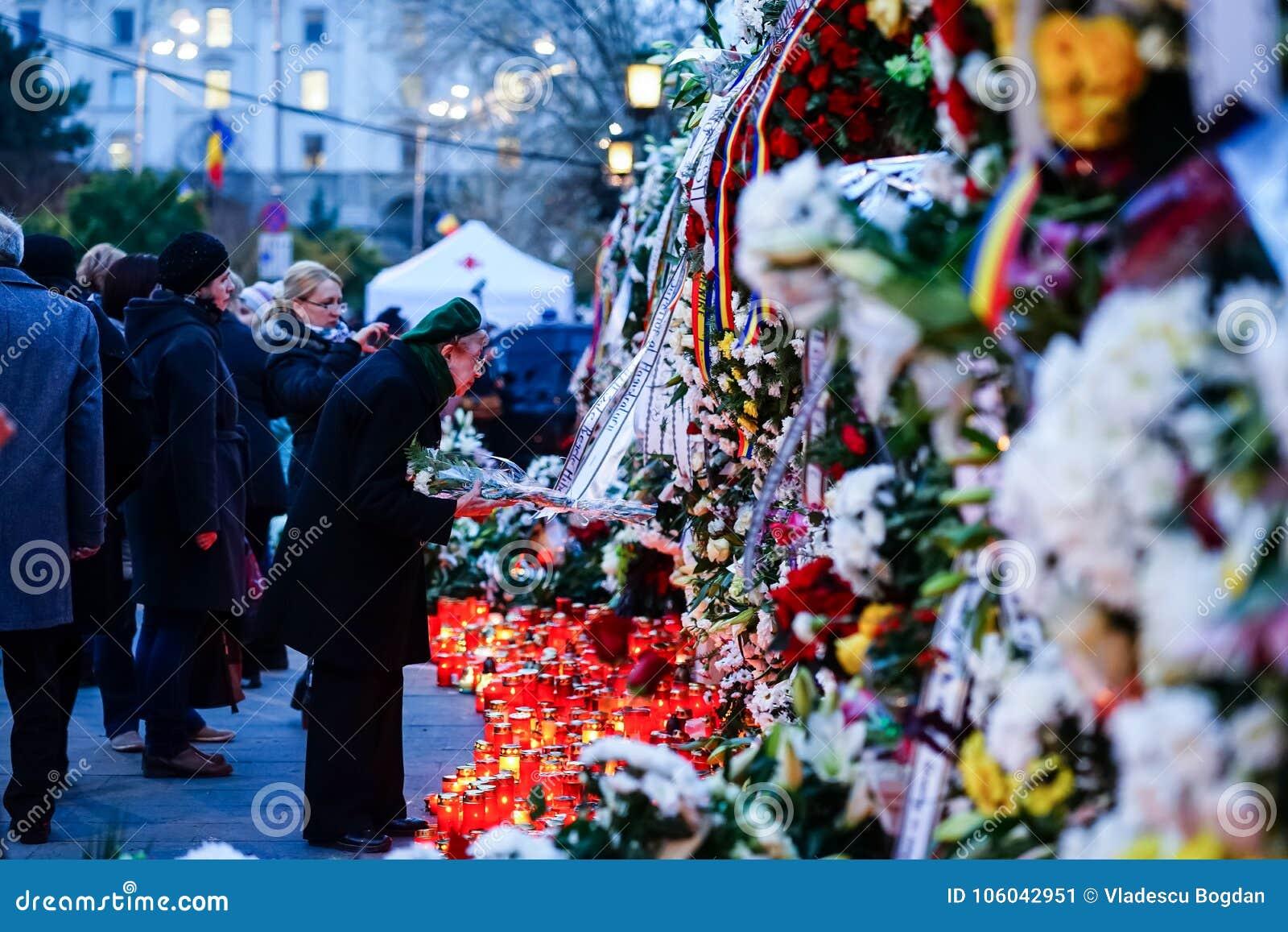 在罗马尼亚的Mihai国王死亡memoriam