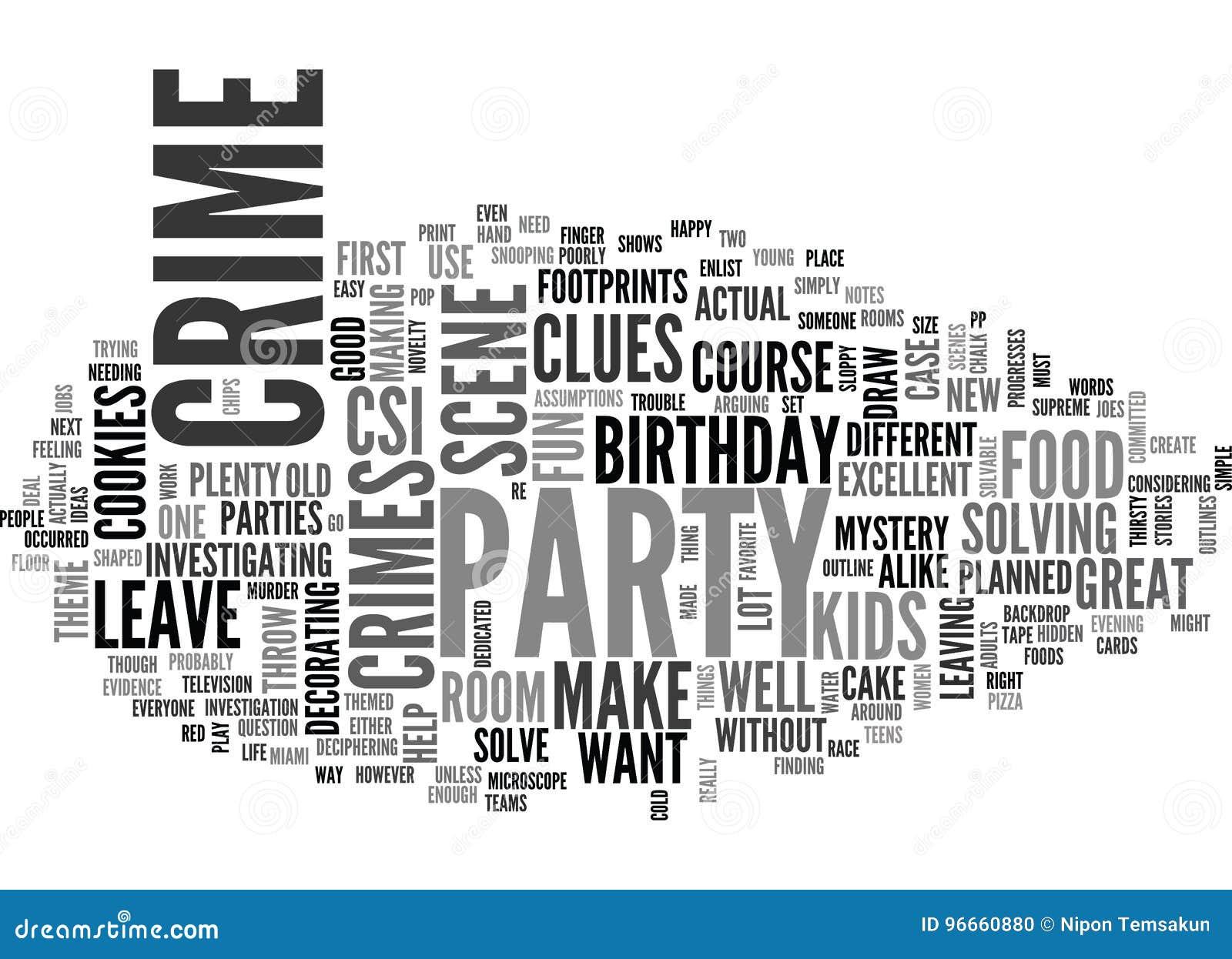 在罪行词云彩的现场的一次生日聚会