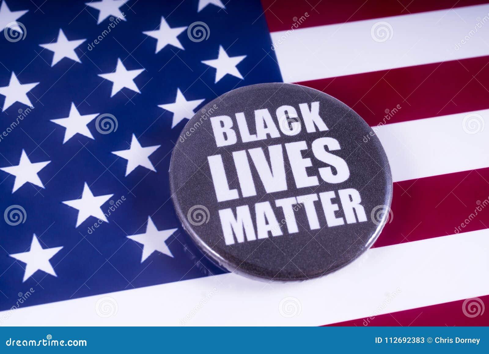 在美国旗子的黑生活问题徽章