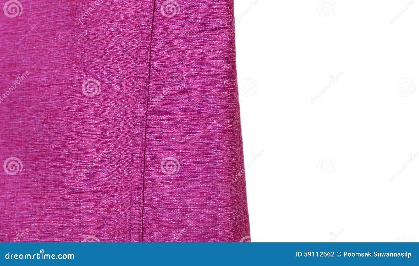 在美好的白色背景的丝绸紫色