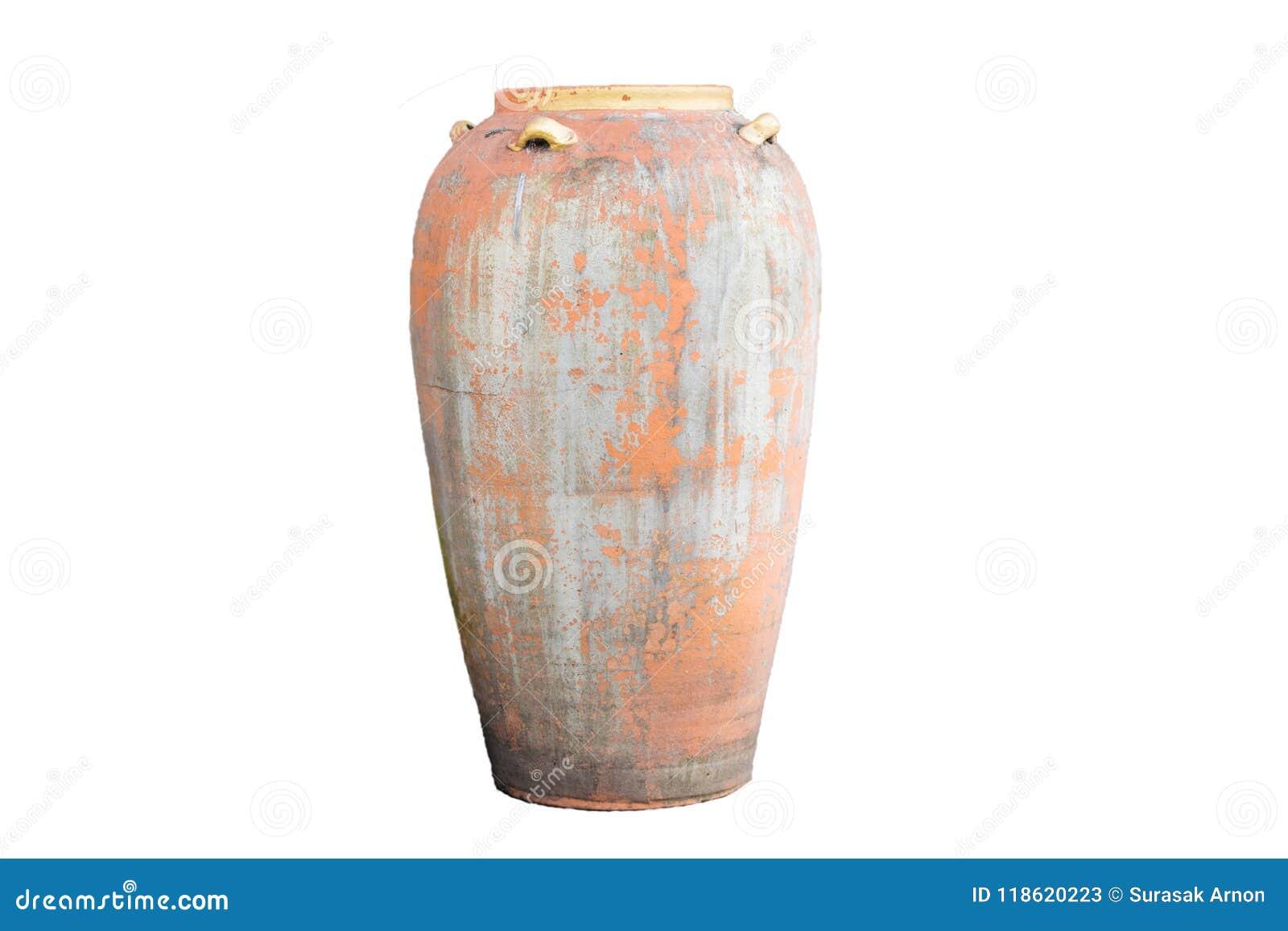 在美好的白色背景的古老瓶子,适用于设计