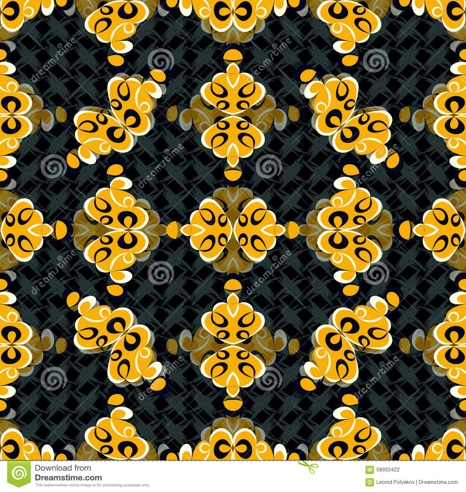 在美好的黑暗的背景的黄色抽象对象导航例证