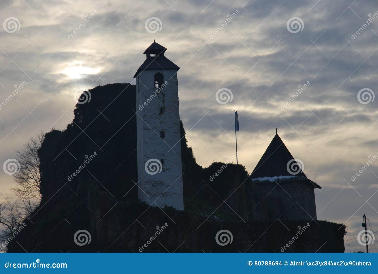 在老堡垒的钟楼,波黑