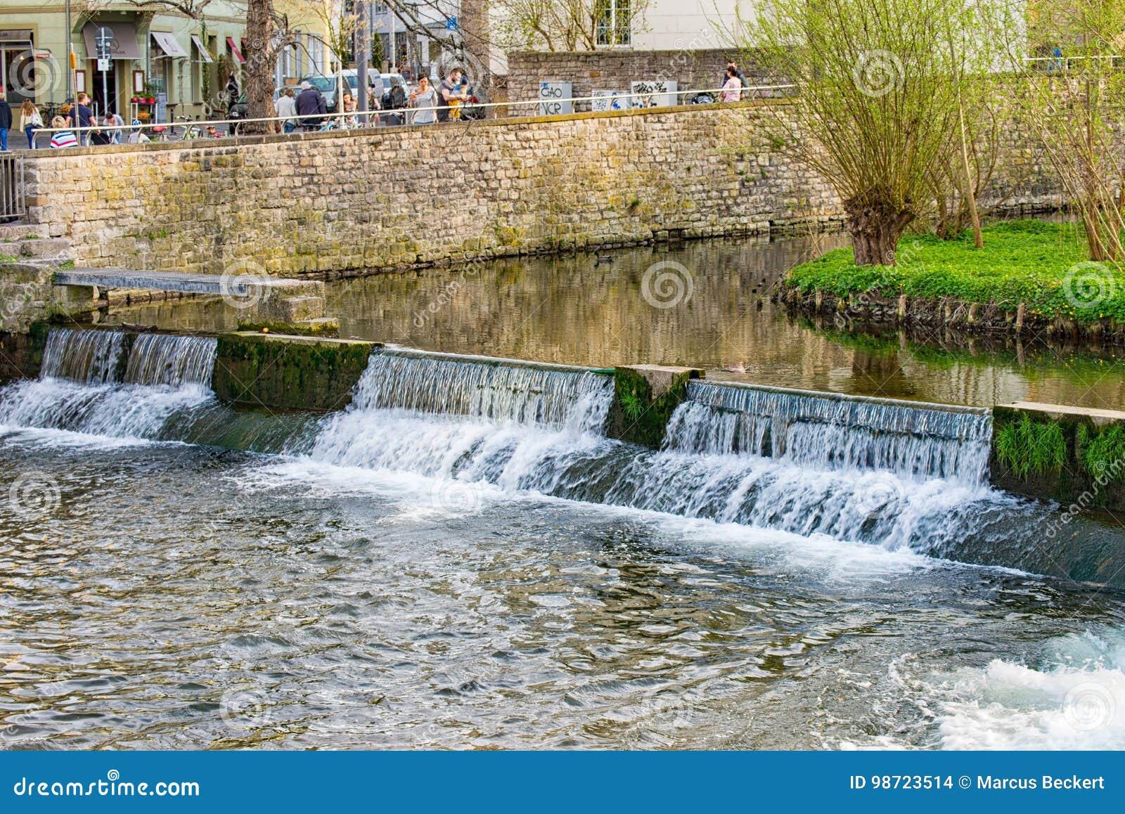 在老的小瀑布水轮埃福特,德国