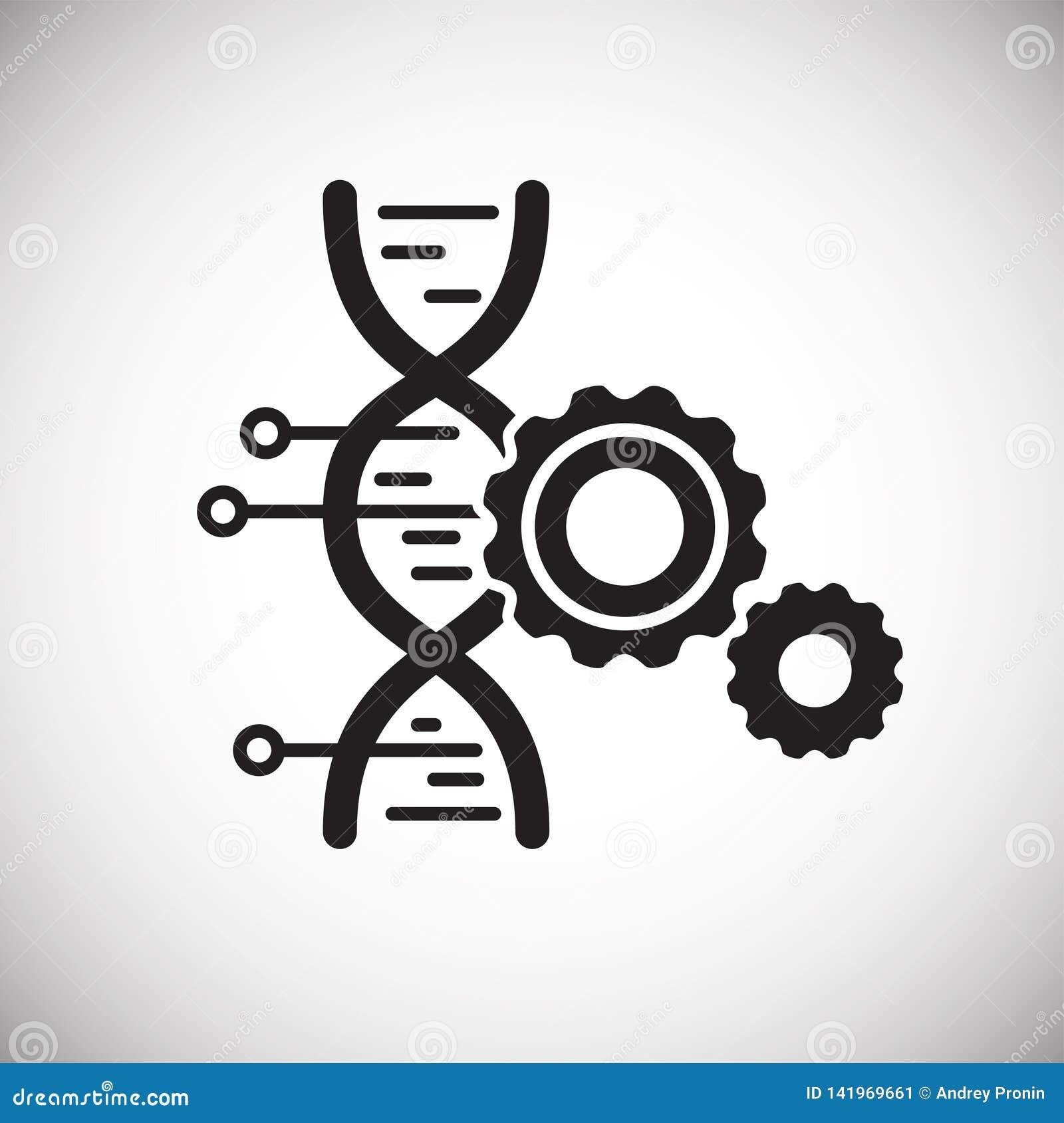 在背景的GMO象图表和网络设计的 简单的传染媒介标志 互联网网站按钮的概念标志或