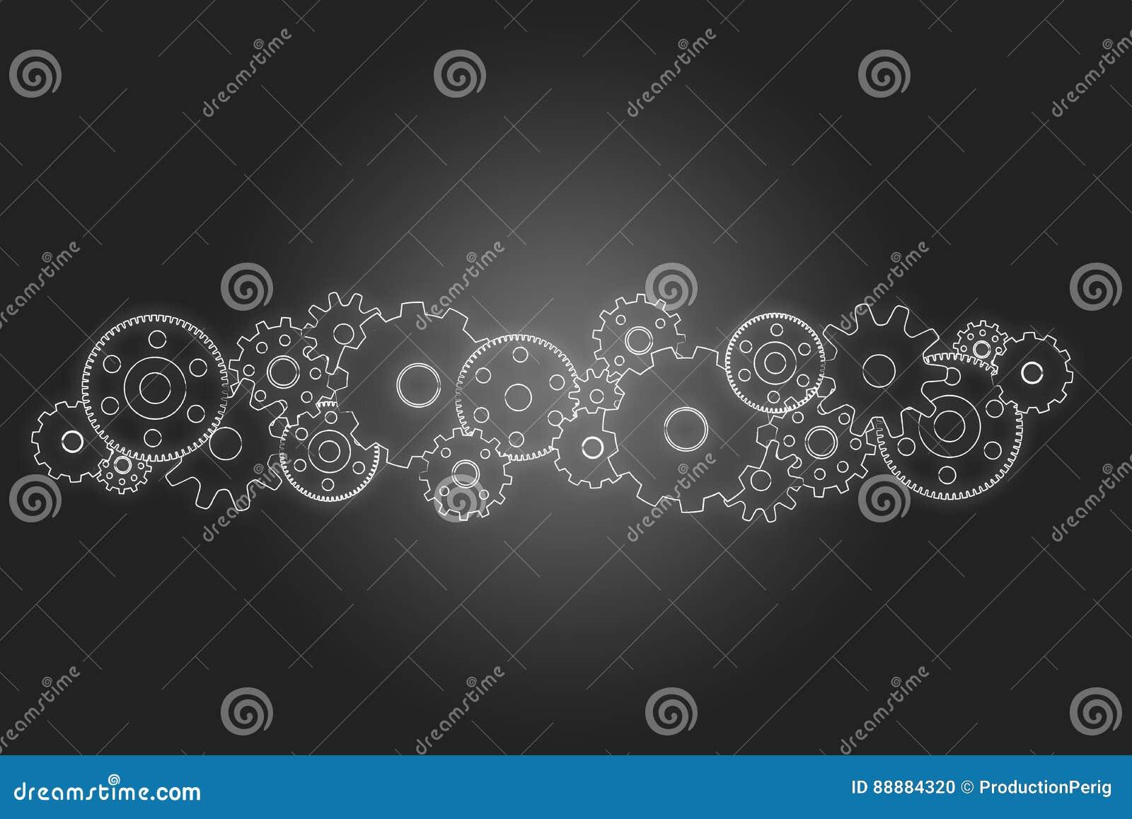 在背景隔绝的链轮概念-技术概念