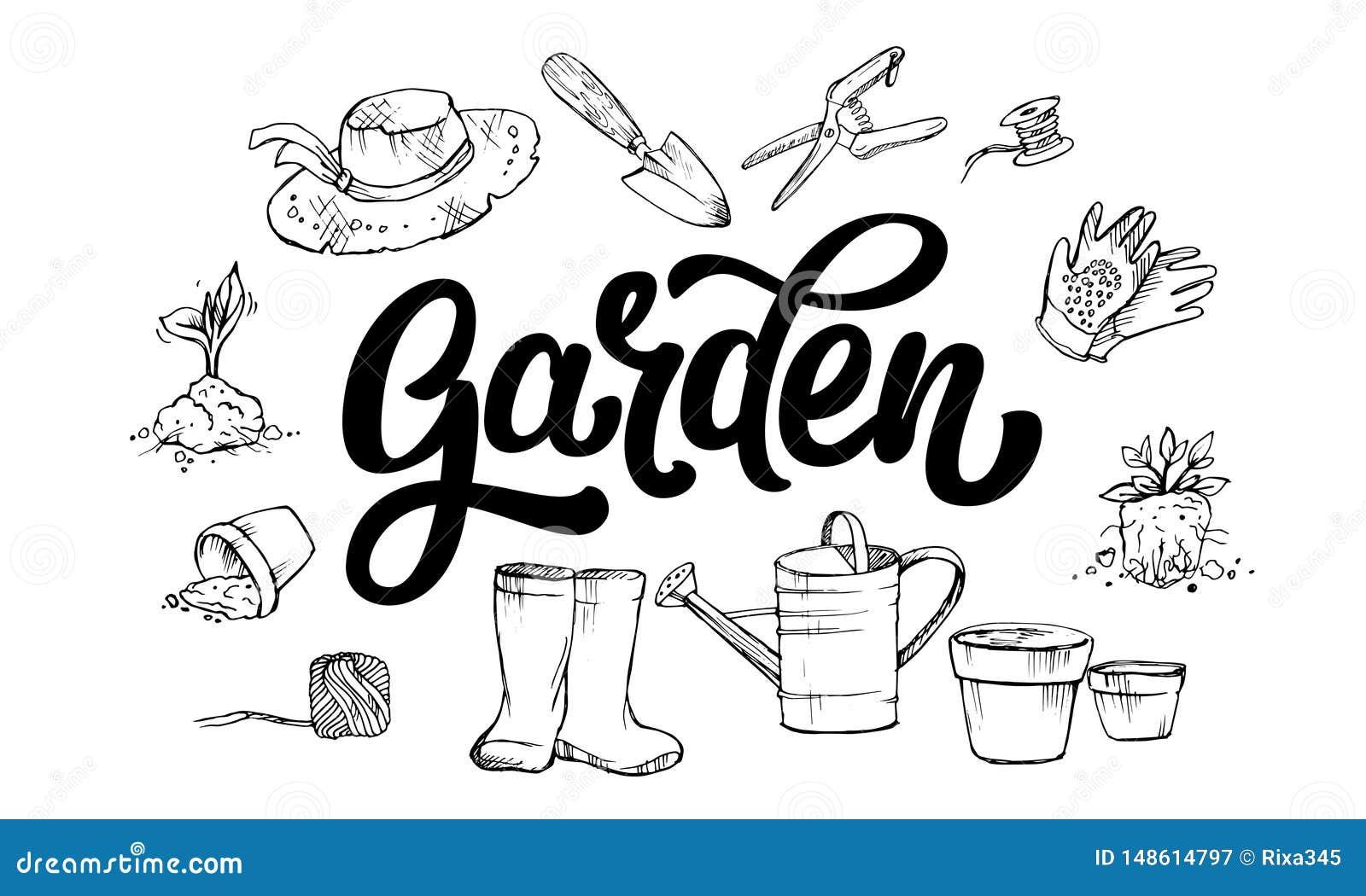 在花匠的属性围拢的庭院词上写字