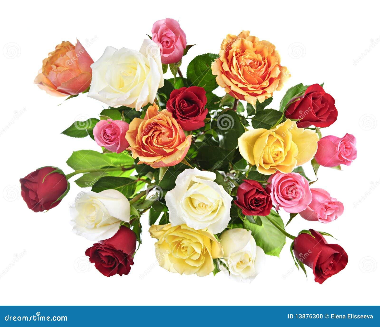 在花束玫瑰之上