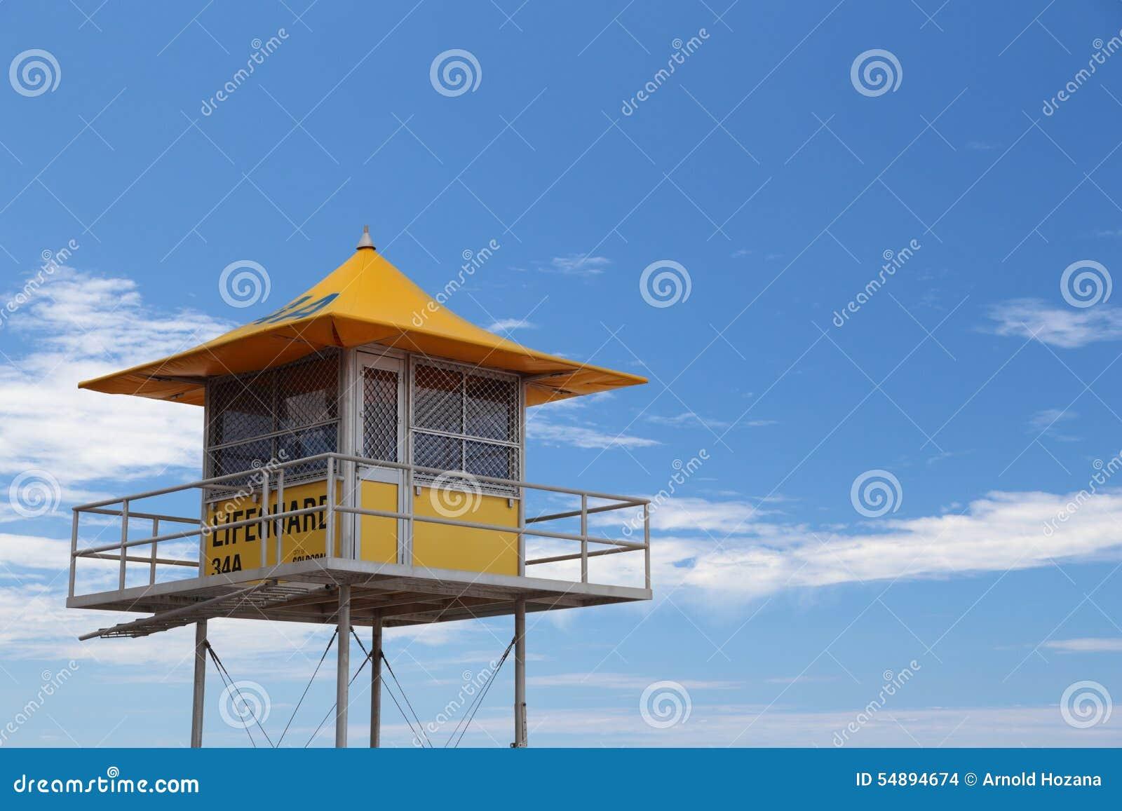 在英属黄金海岸的救生员小屋