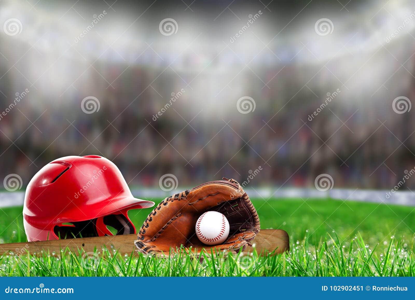 在草的棒球设备与拷贝空间