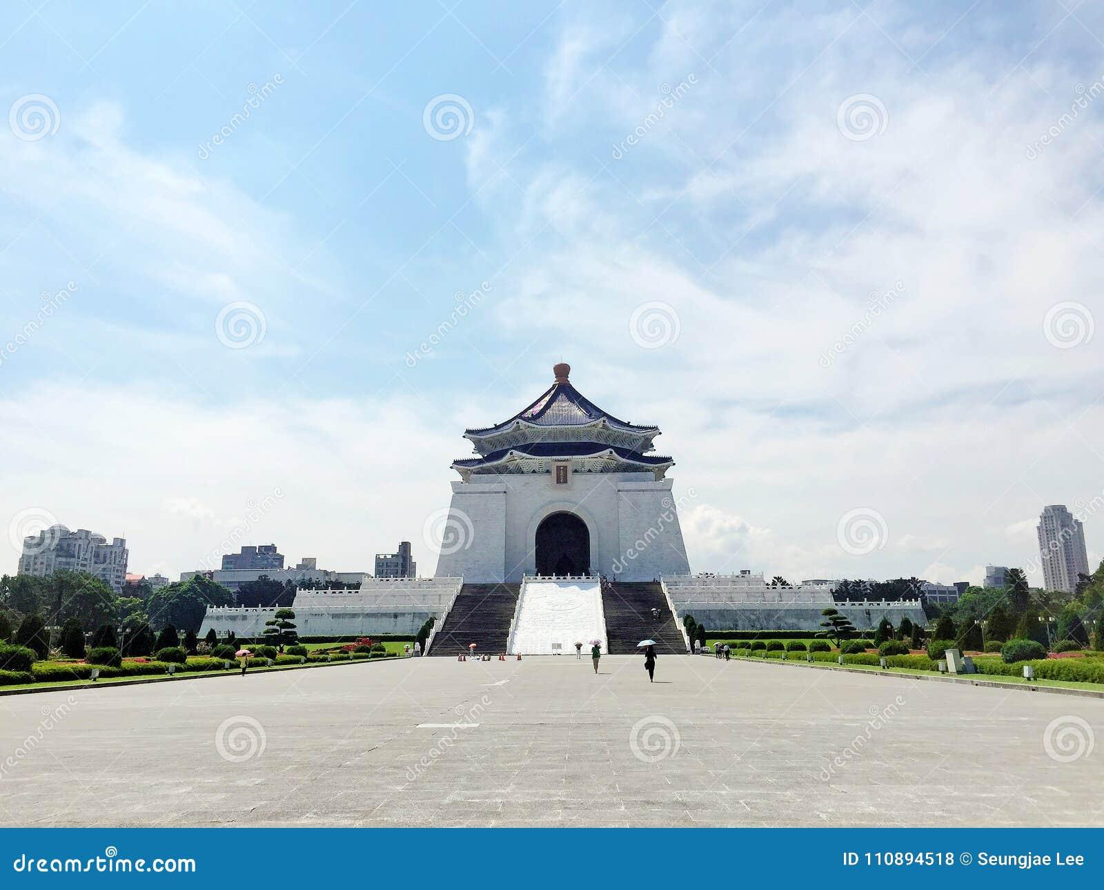 在蒋介石纪念堂CKS的晴天下午, CKSMH,台北,台湾