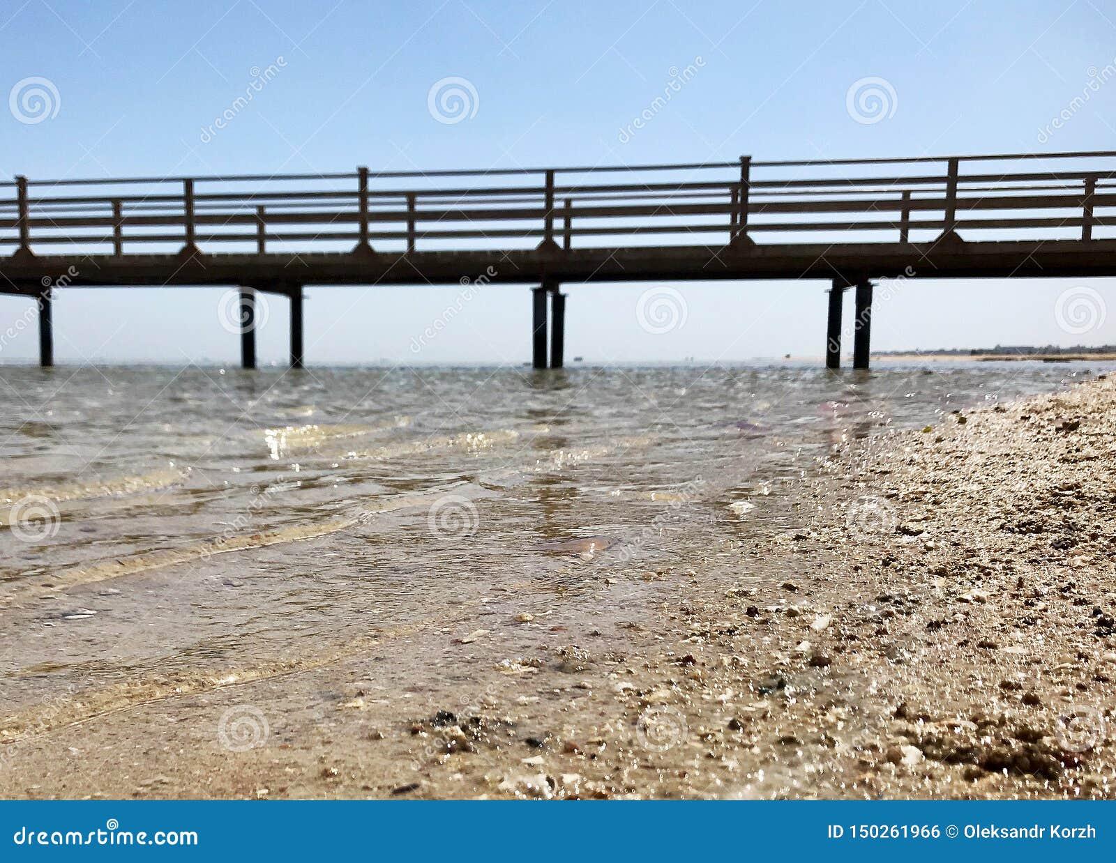 在蓝色海的美好的海景与黄沙的露天的