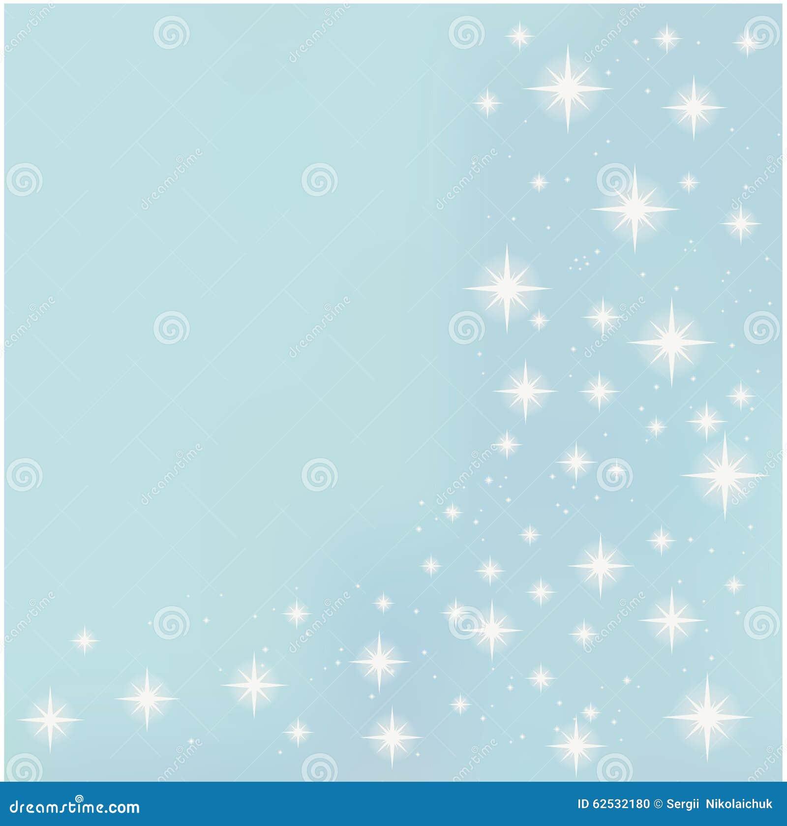 在蓝色背景传染媒介的星