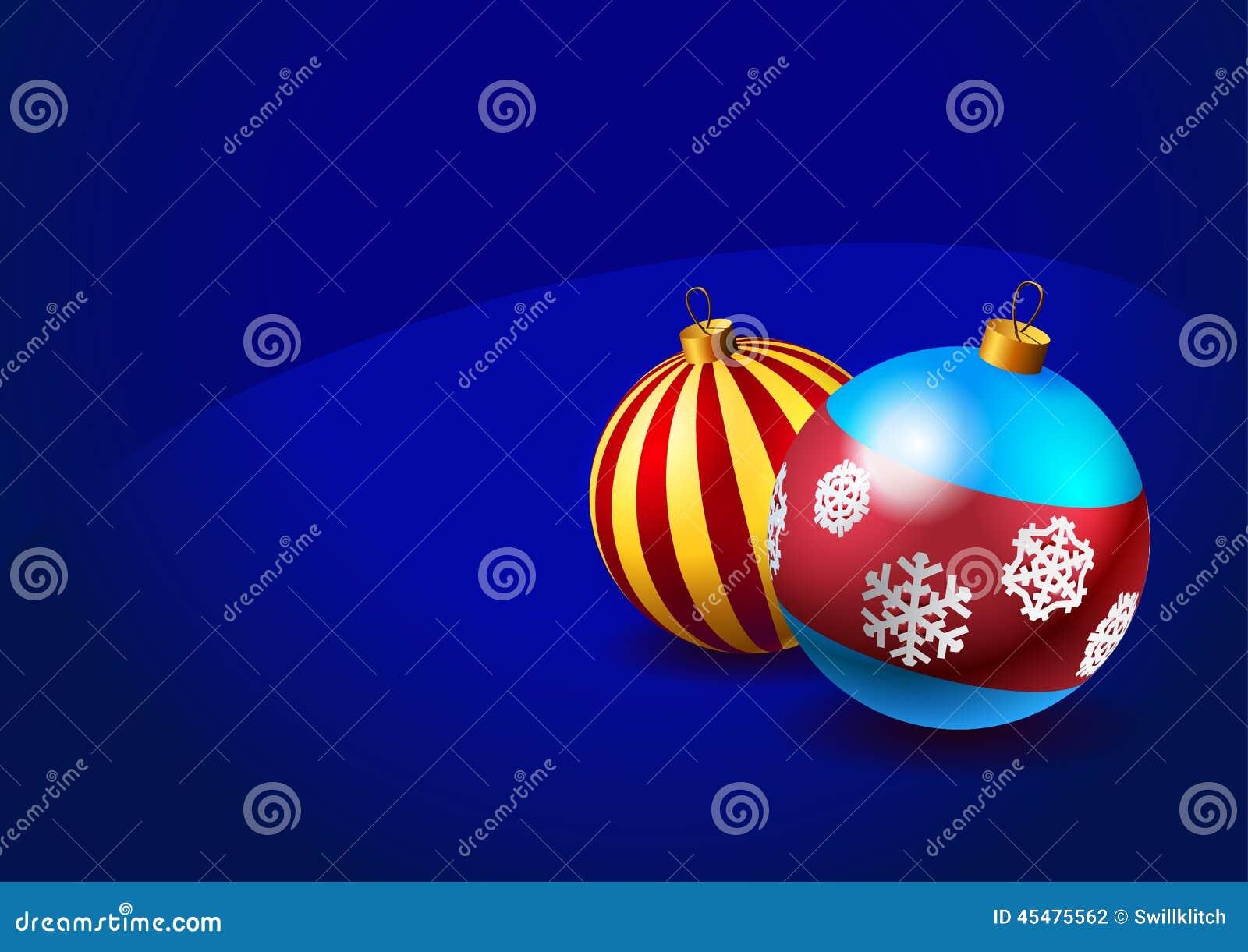 在蓝色背景的圣诞节中看不中用的物品