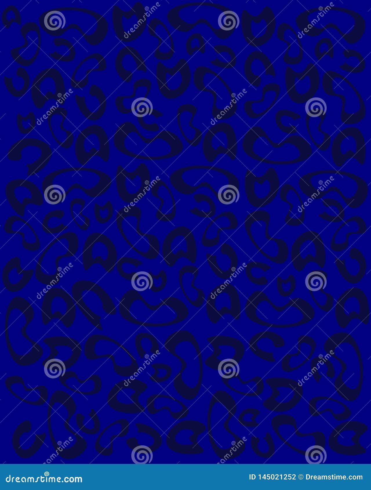 在蓝色背景的豹子印刷品