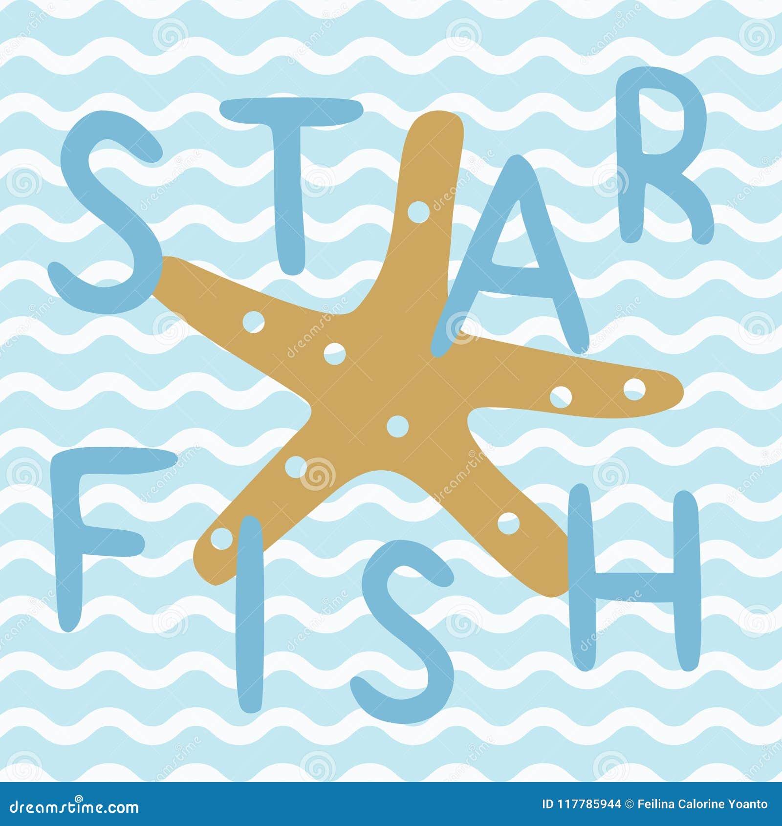 在蓝色船舶海洋海报的星鱼