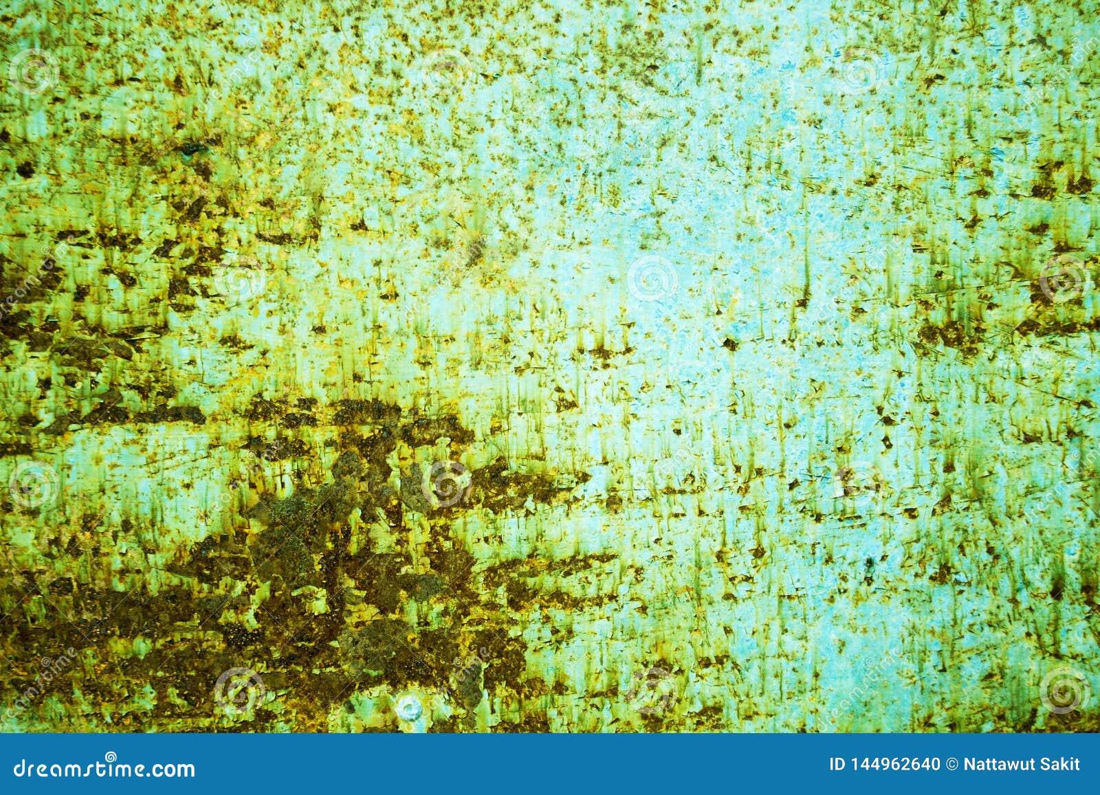 在蓝色钢板的铁锈背景图形设计的