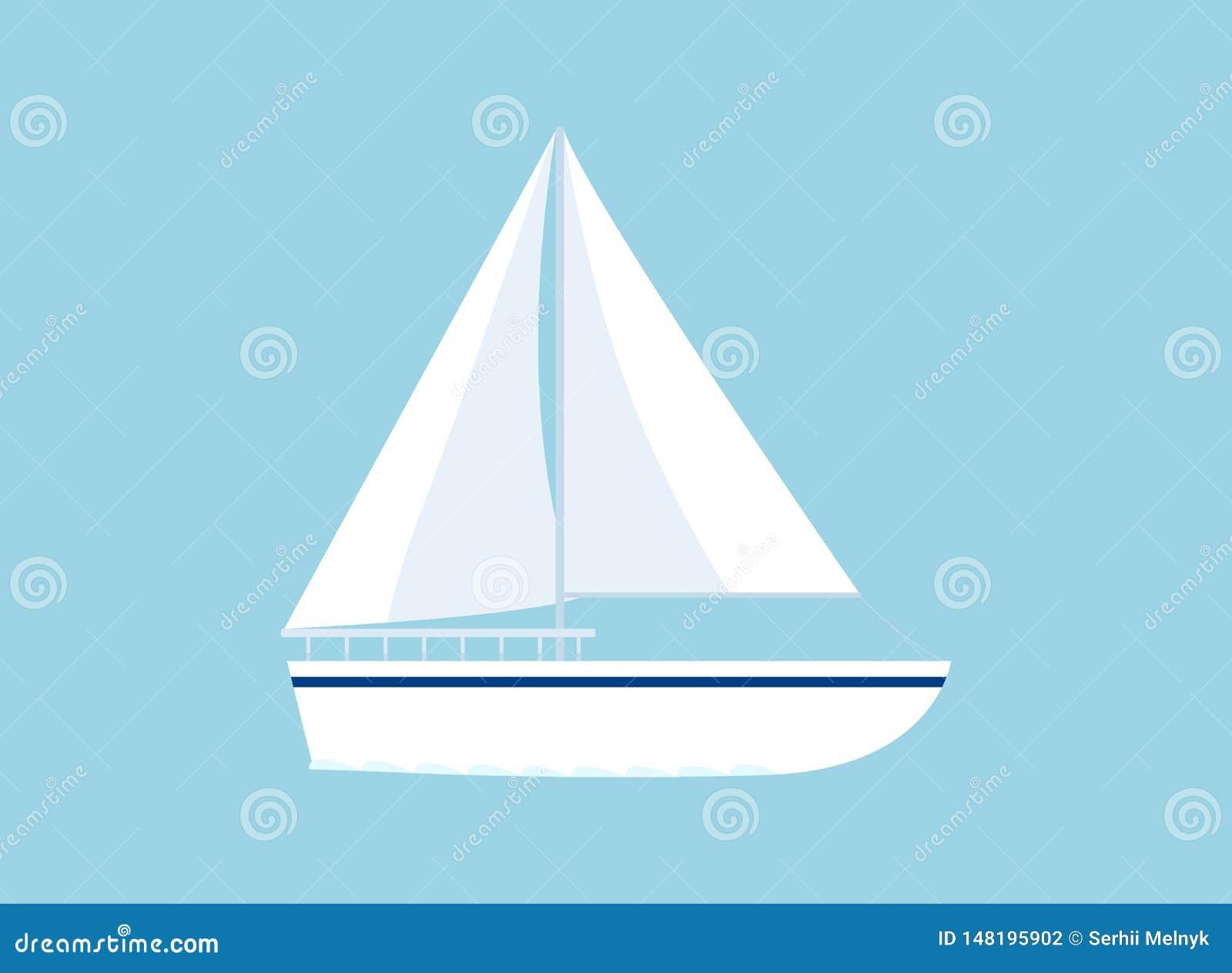 在蓝色隔绝的游艇象