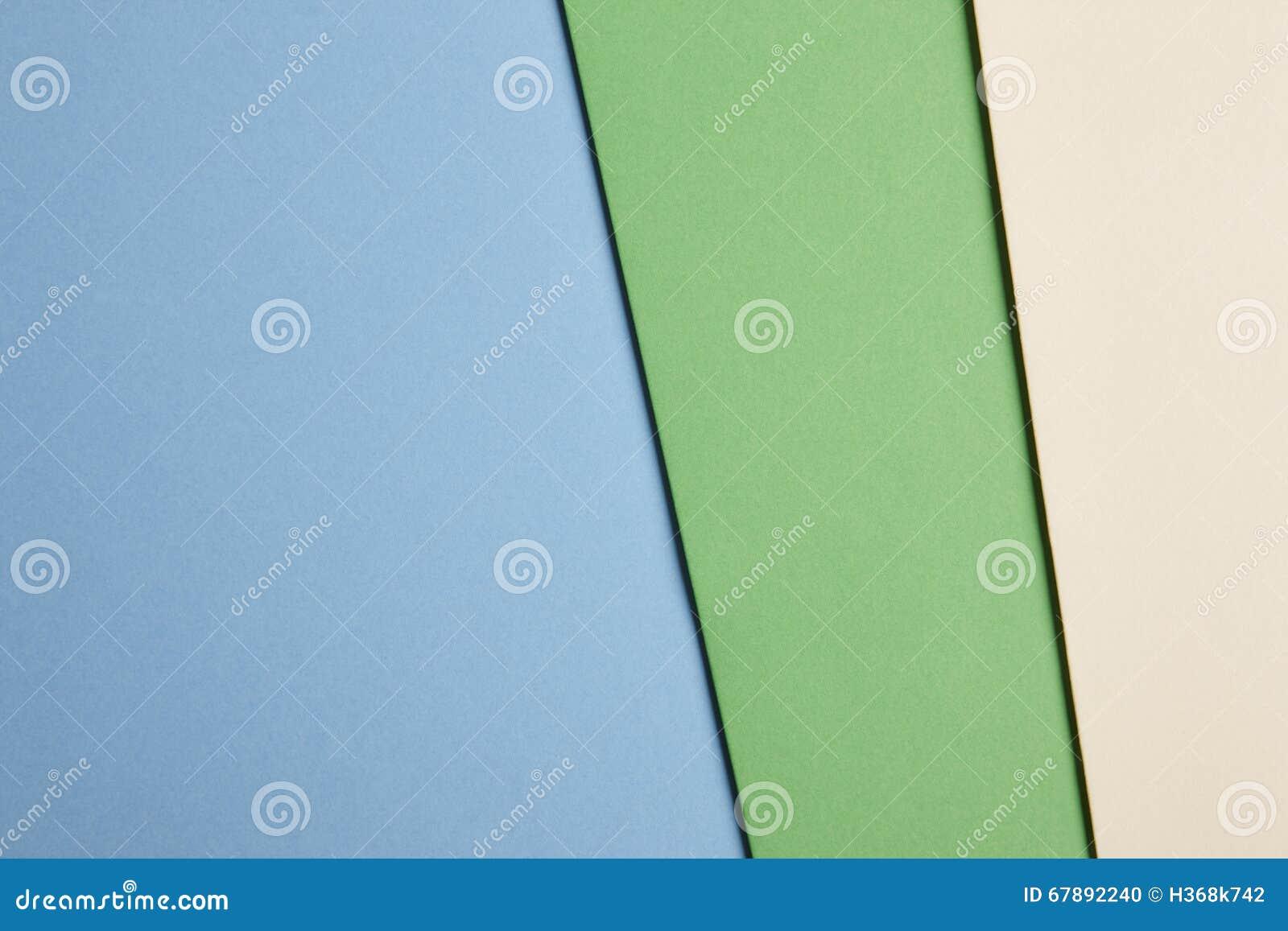在蓝色,绿色,米黄口气的色的纸板背景 复制s