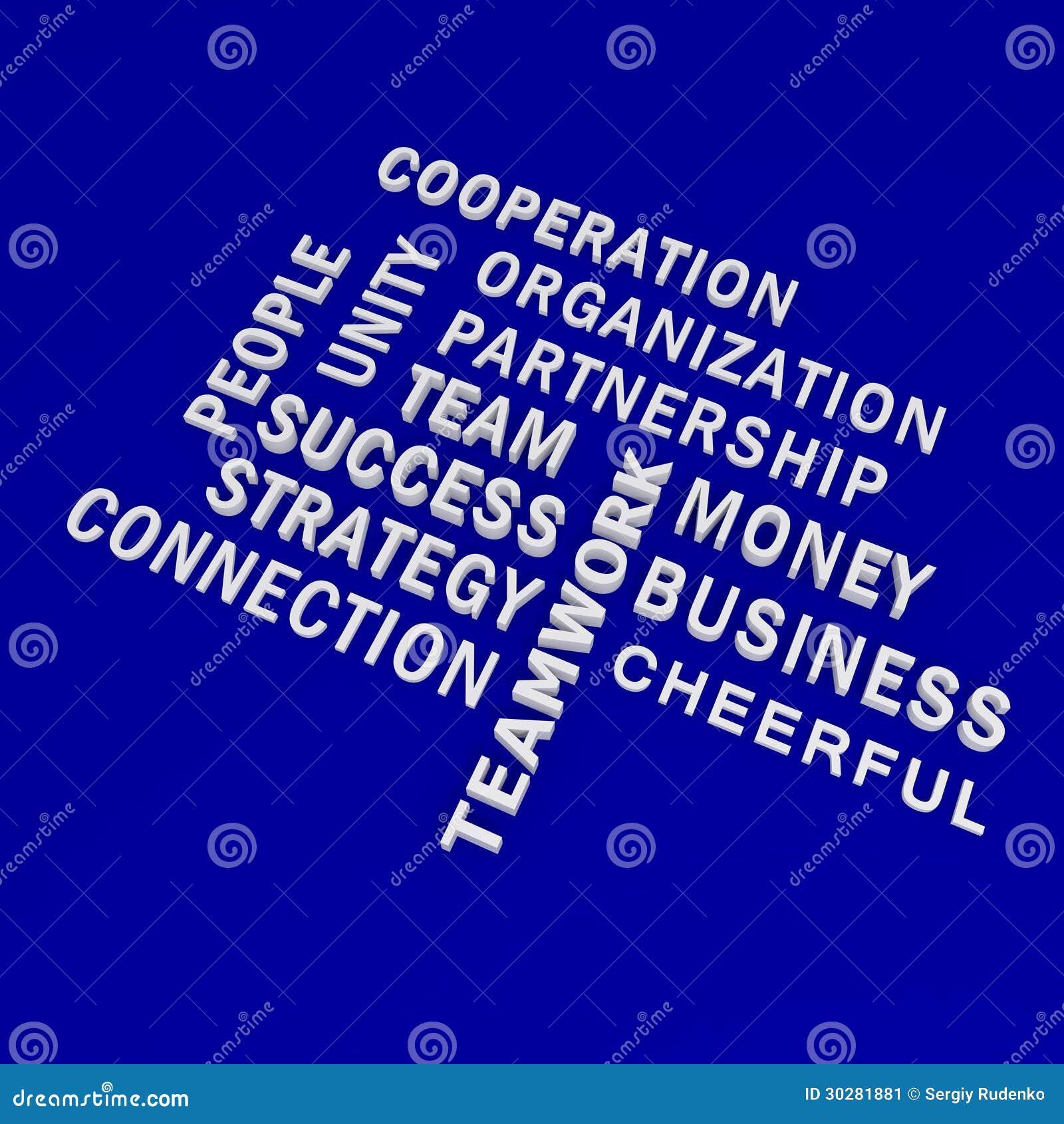 在蓝色backgound的企业词