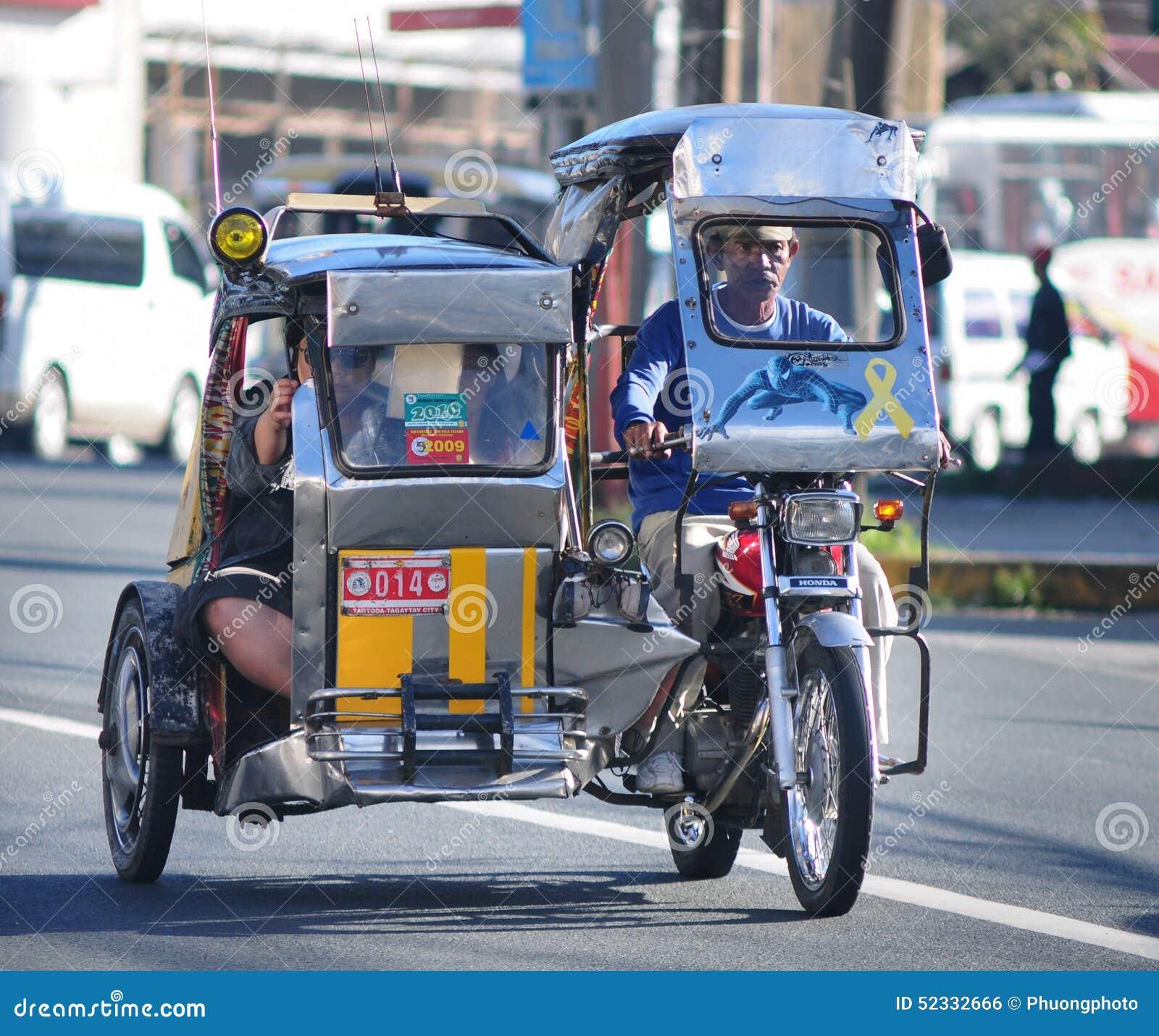 在街道上的三轮车,博拉凯,菲律宾