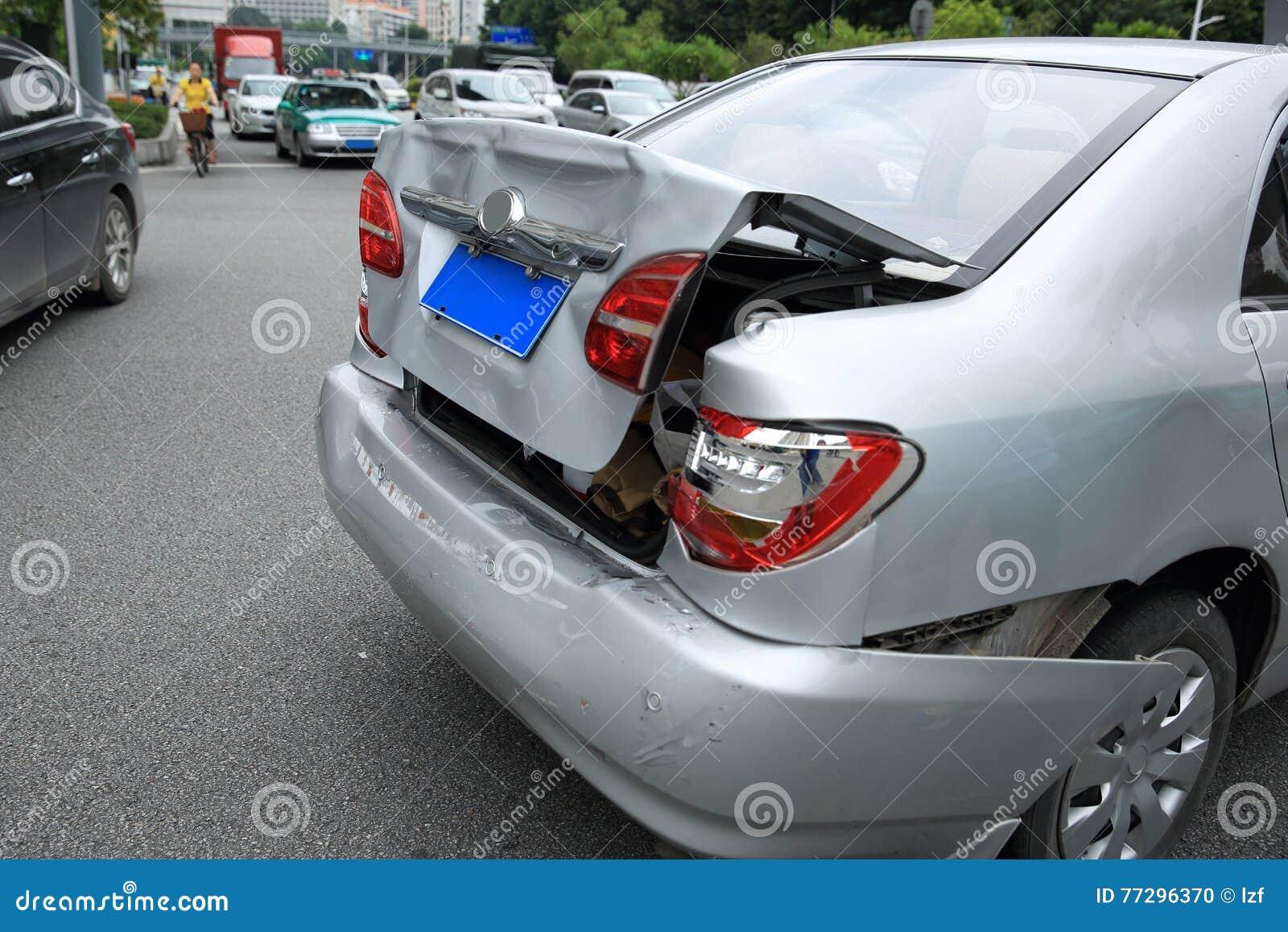 在街道上的车祸事故
