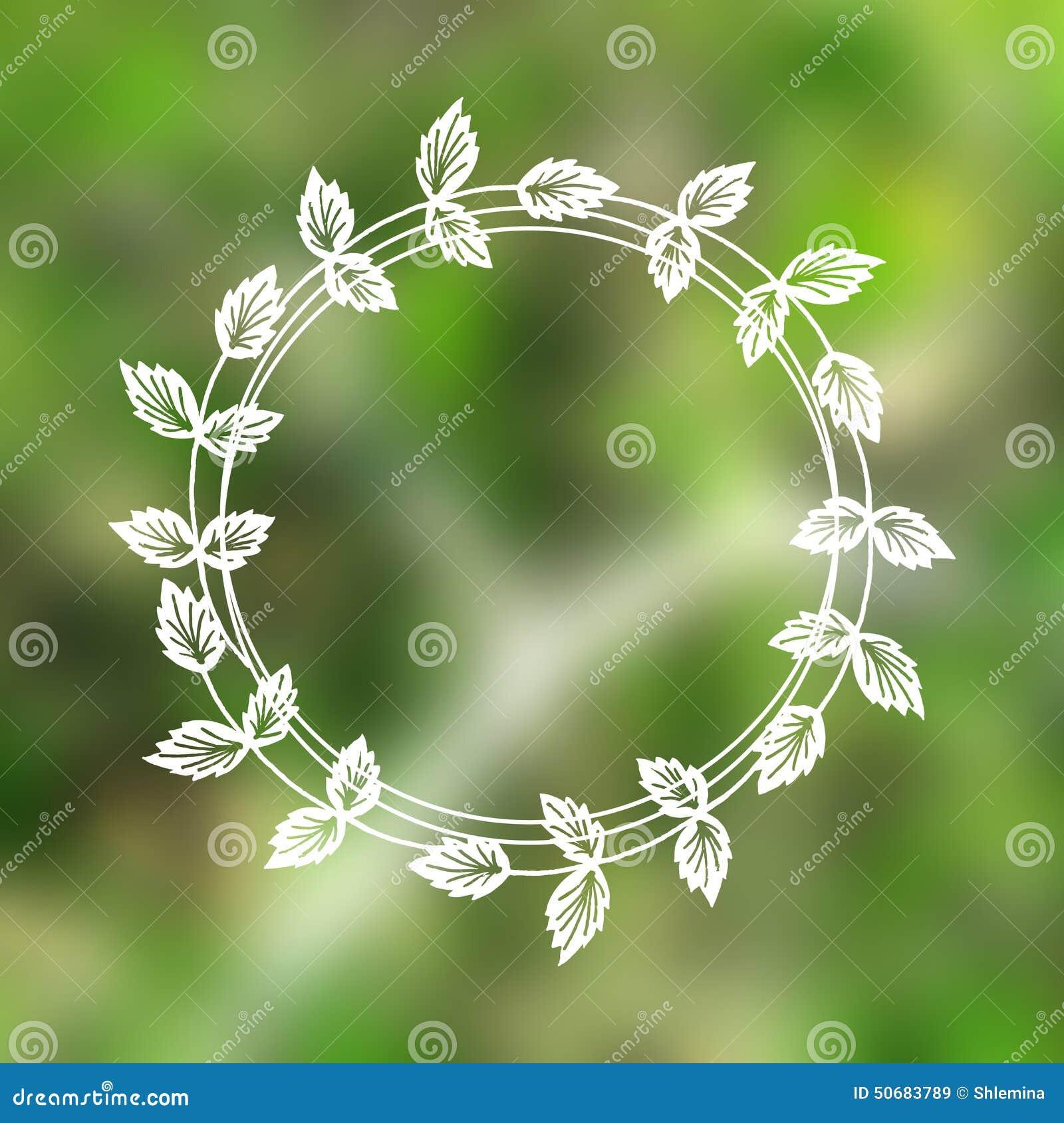 Download 在被弄脏的背景的花卉花圈 向量例证. 插画 包括有 看板卡, 问候, 摄影, 装饰, 室外, 空白, 叶子 - 50683789