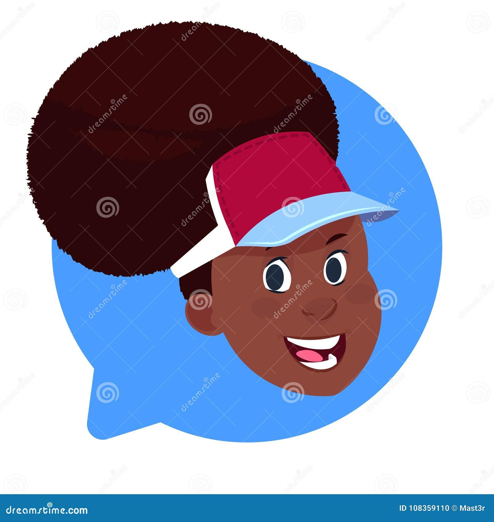 在被隔绝的闲谈泡影,妇女具体化漫画人物画象的外形象非裔美国人的女性头