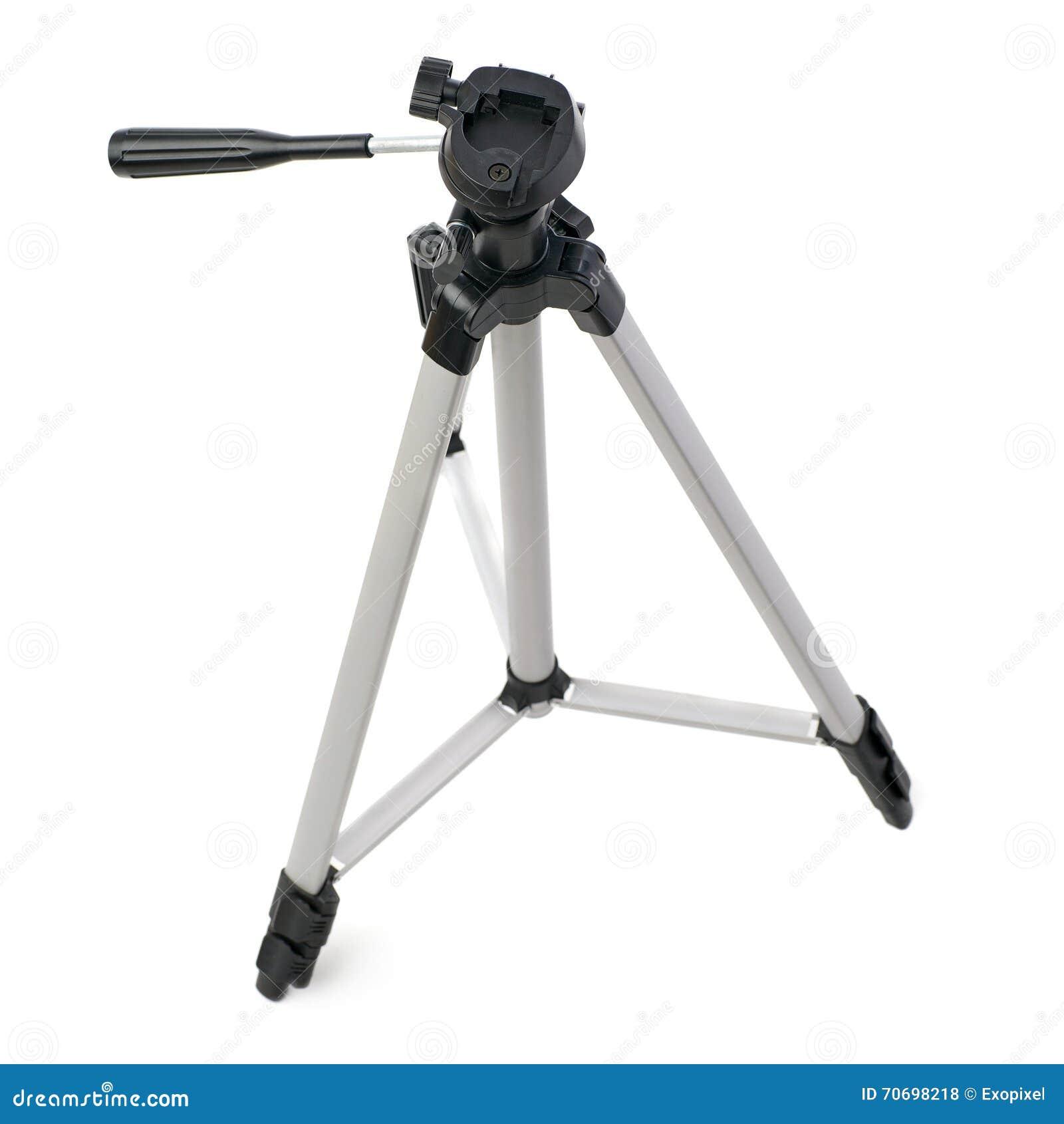 在被隔绝的白色背景的照相机三脚架