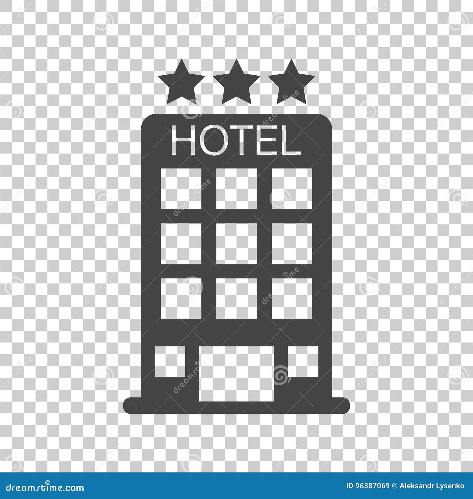 在被隔绝的背景的旅馆象 公共汽车的简单的平的图表