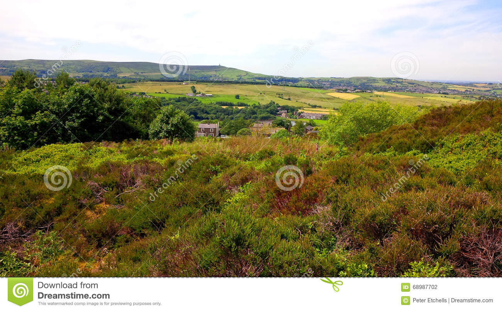 在西方叶绿泥石的领域在Darwen附近停泊