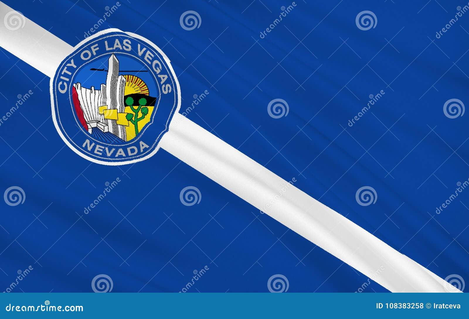 在西美国, i陈述拉斯维加斯旗子-一个城市