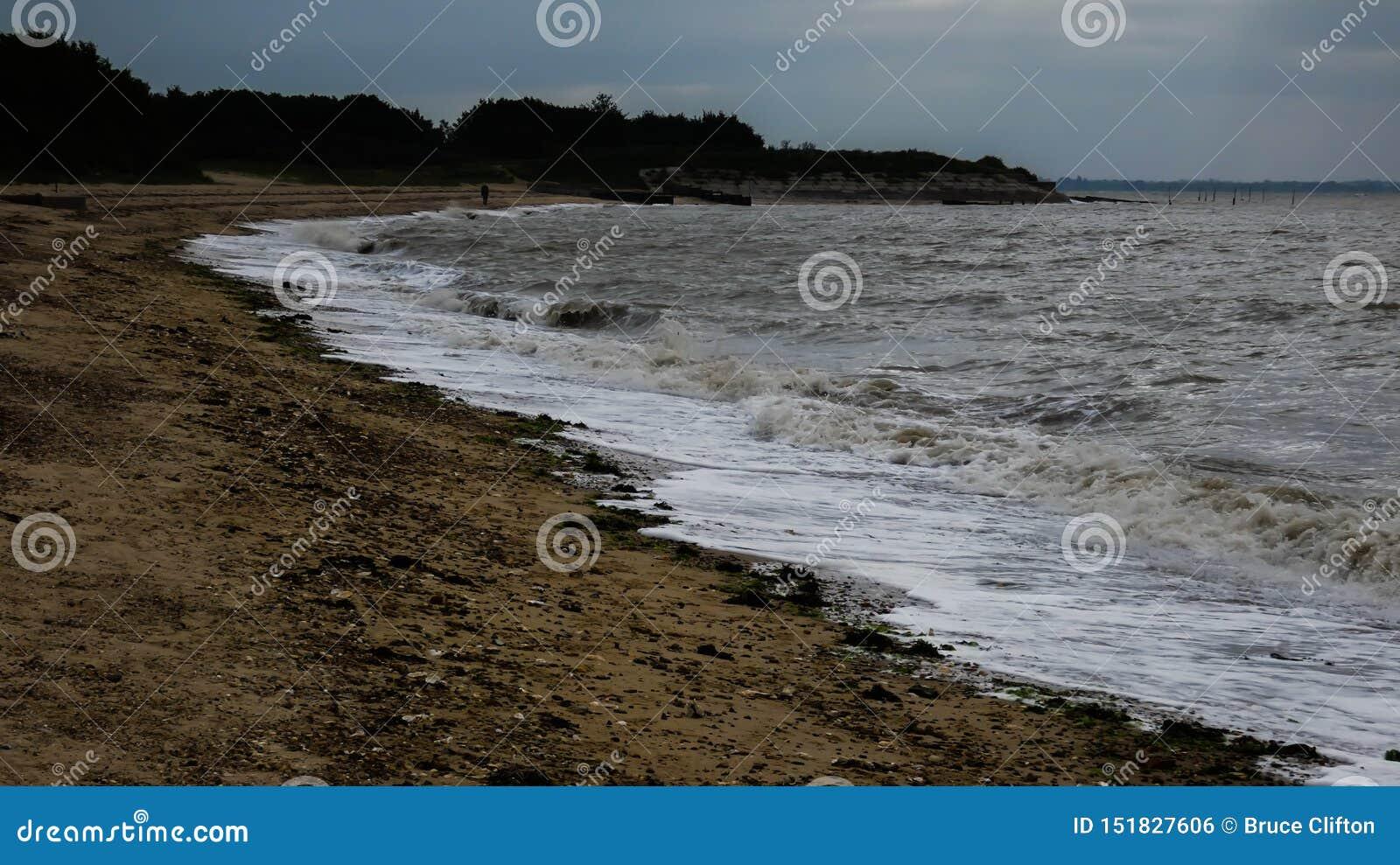 在西部Mersea,艾塞克斯,英国11的海滩