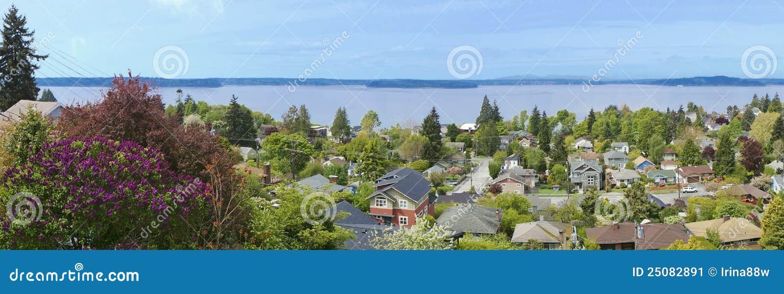 在西雅图西方视图的wa的neighboorhood