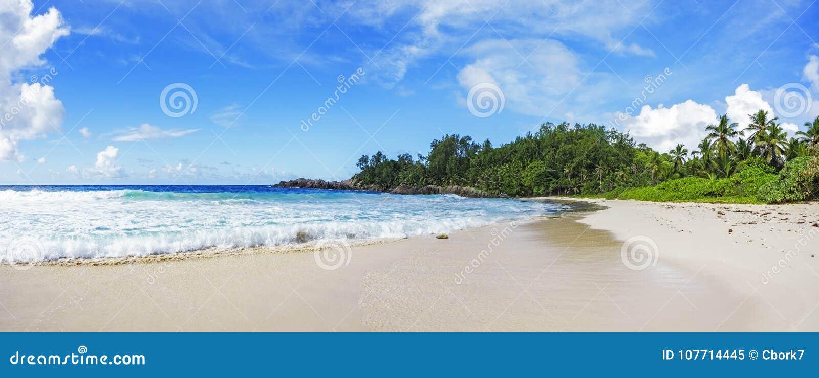 在警察海湾的美丽的天堂海滩,塞舌尔群岛40