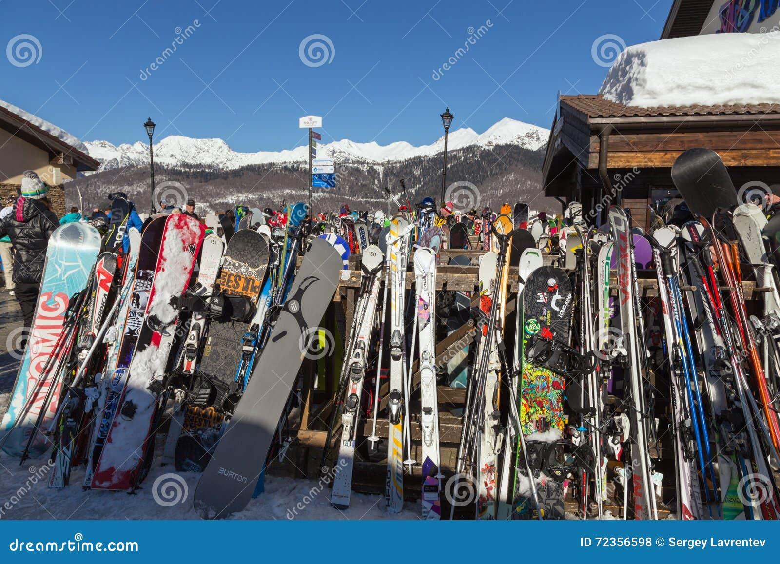 在谷罗莎Khutor的滑雪胜地 2014 2018场杯子比赛奥林匹克俄国索契冬天世界
