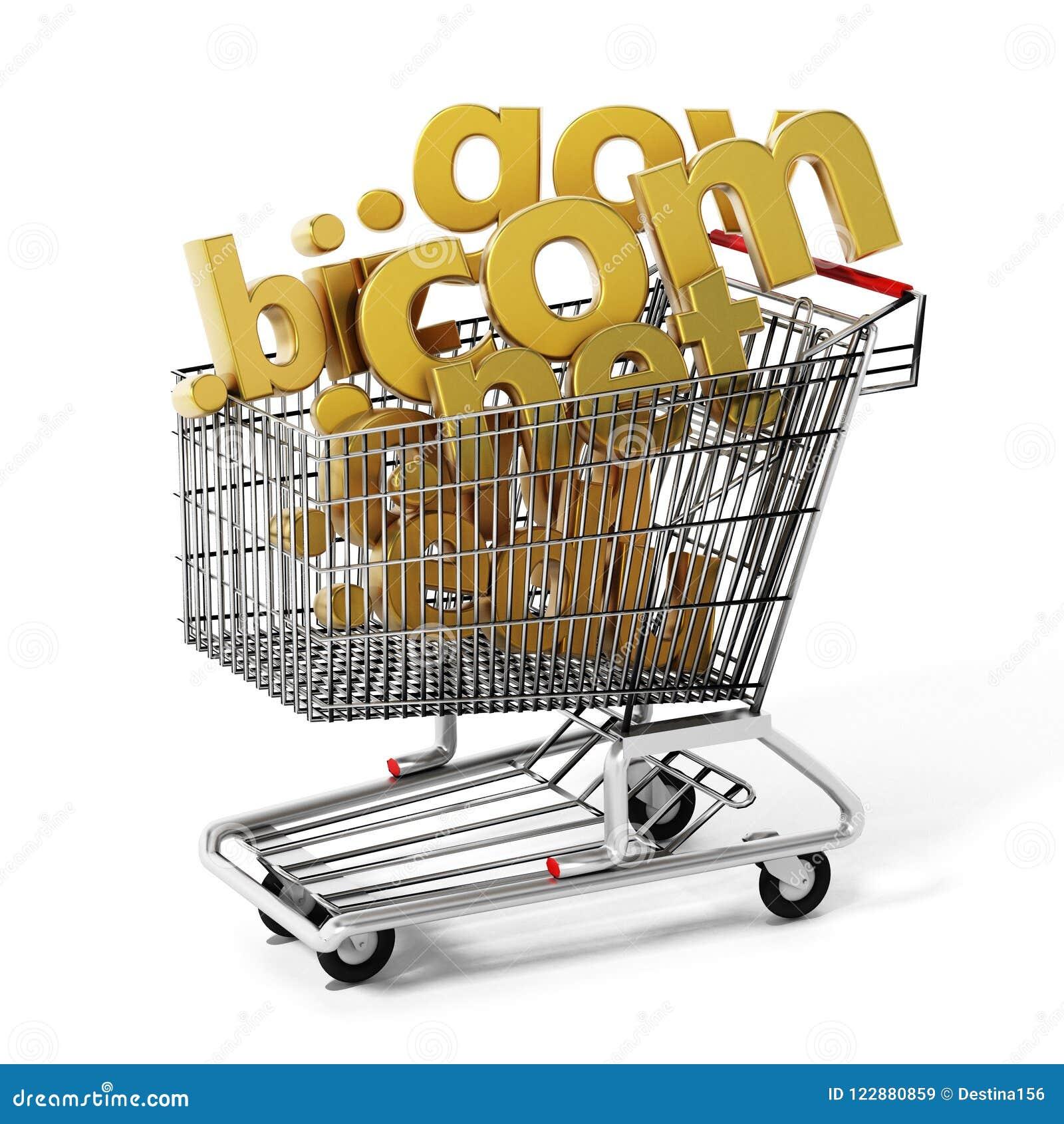 在购物车里面的域名 3d例证