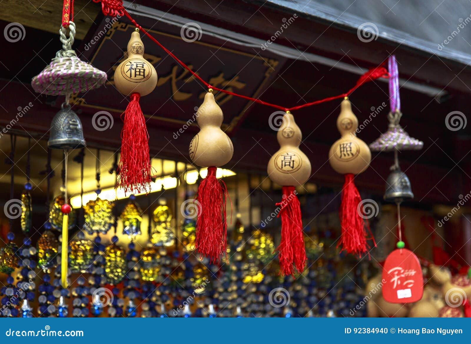 在走的街道的纪念品在成都,中国